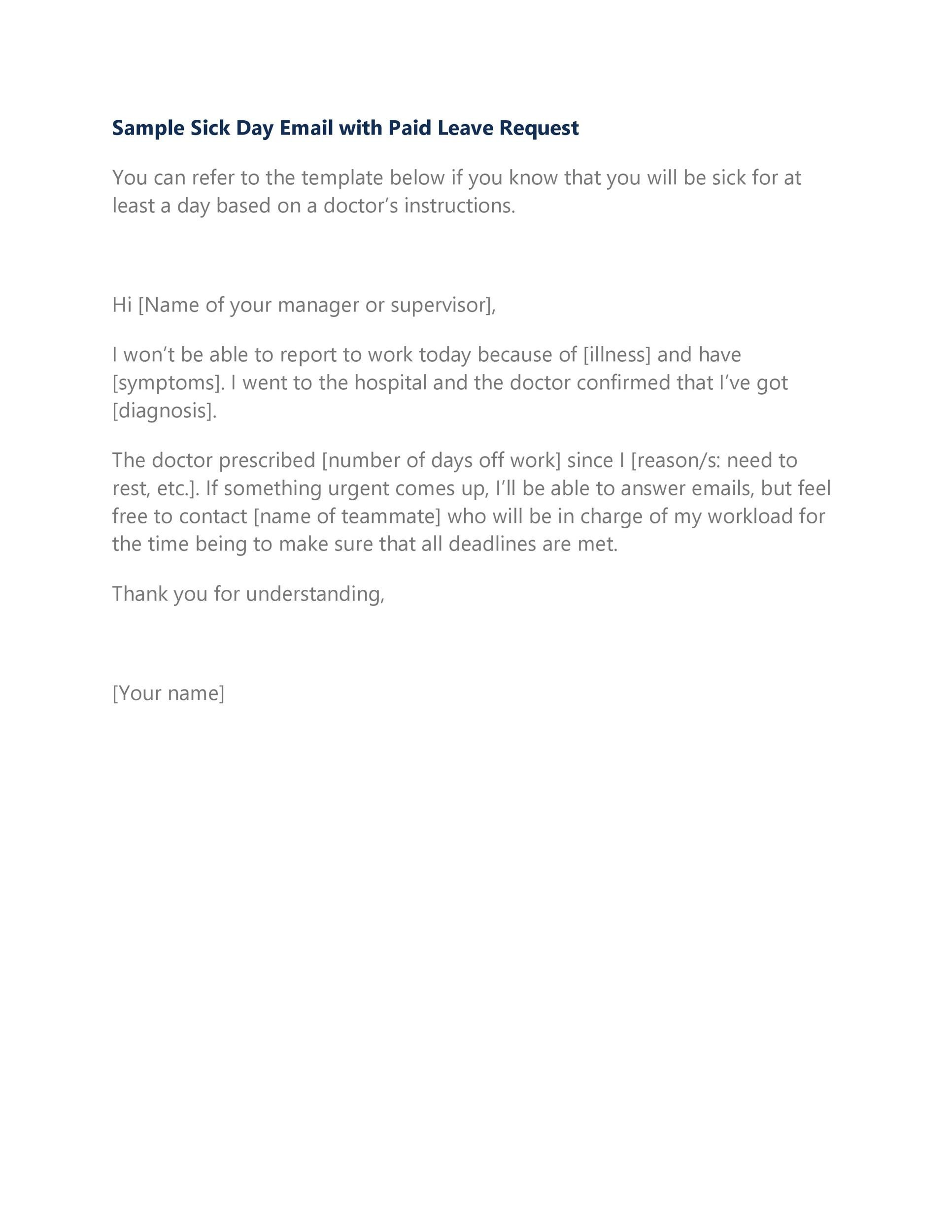 Free sick leave email 47