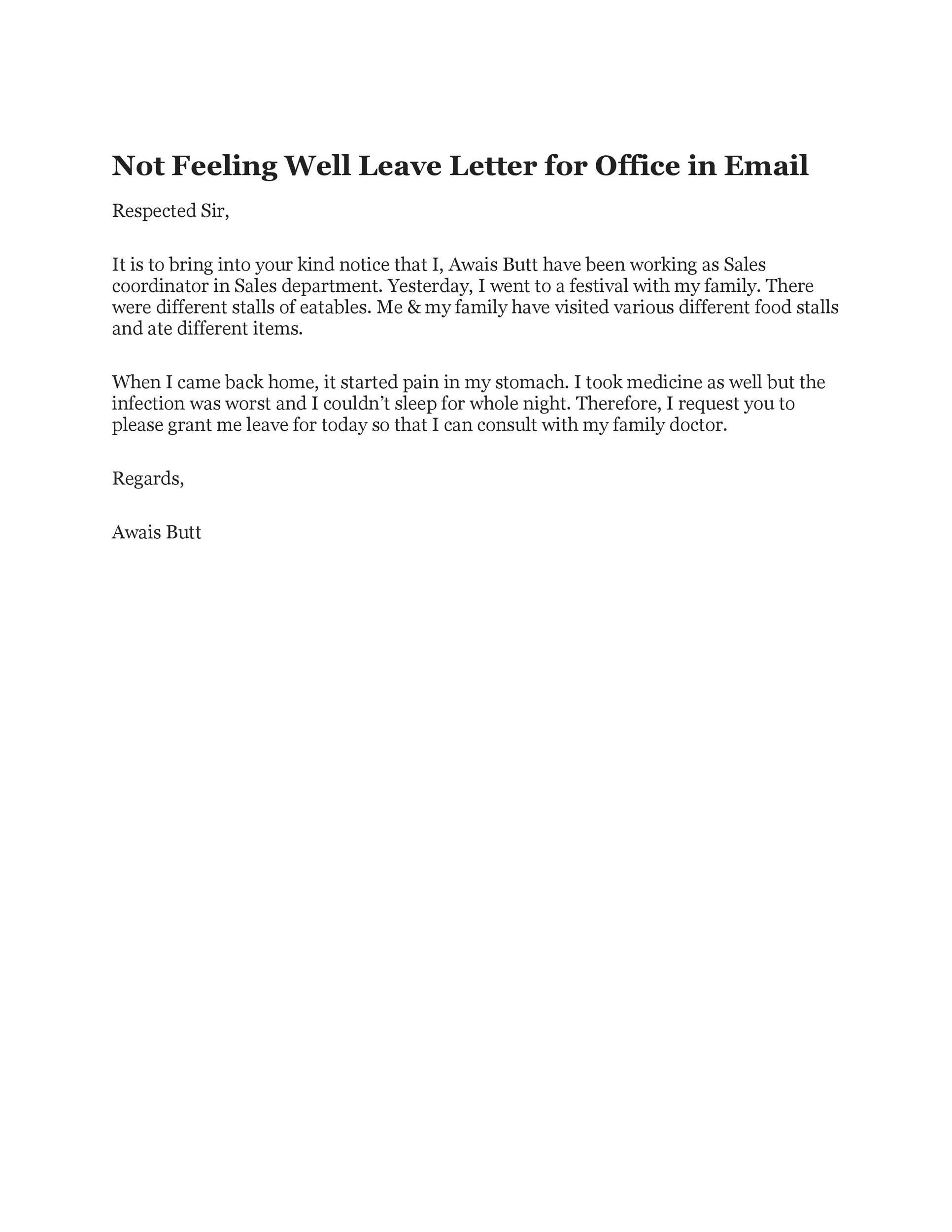 Free sick leave email 49