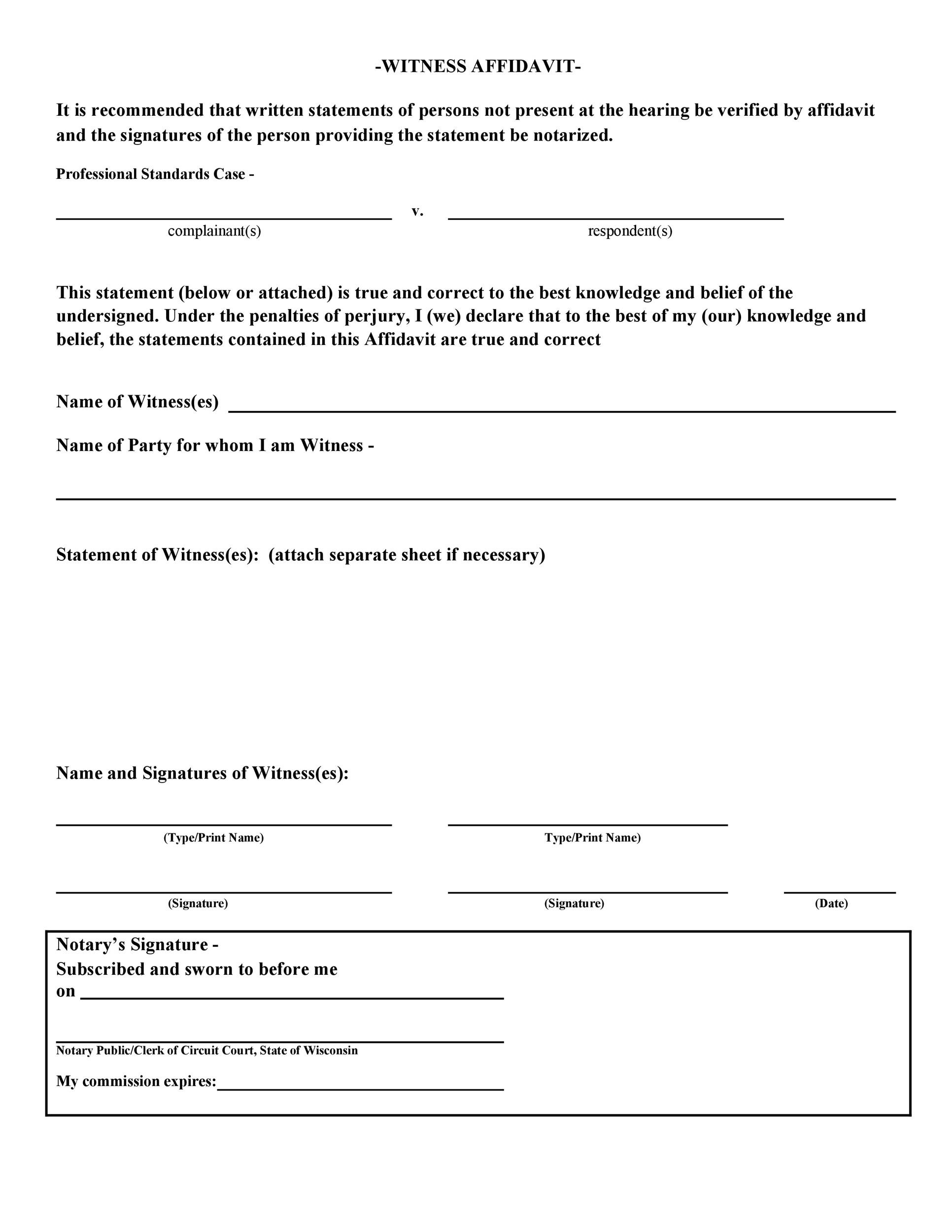 Free witness statement form 12