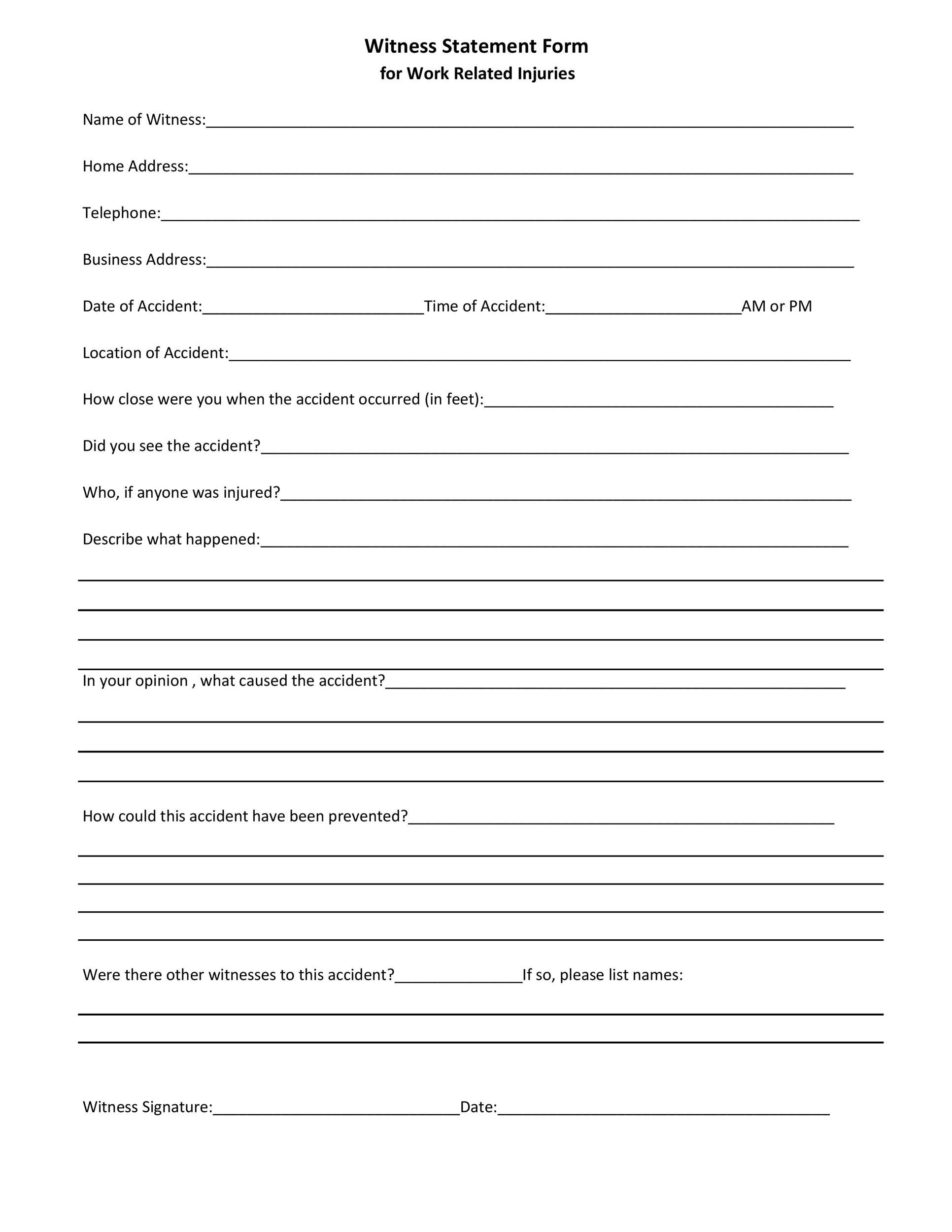 Free witness statement form 16