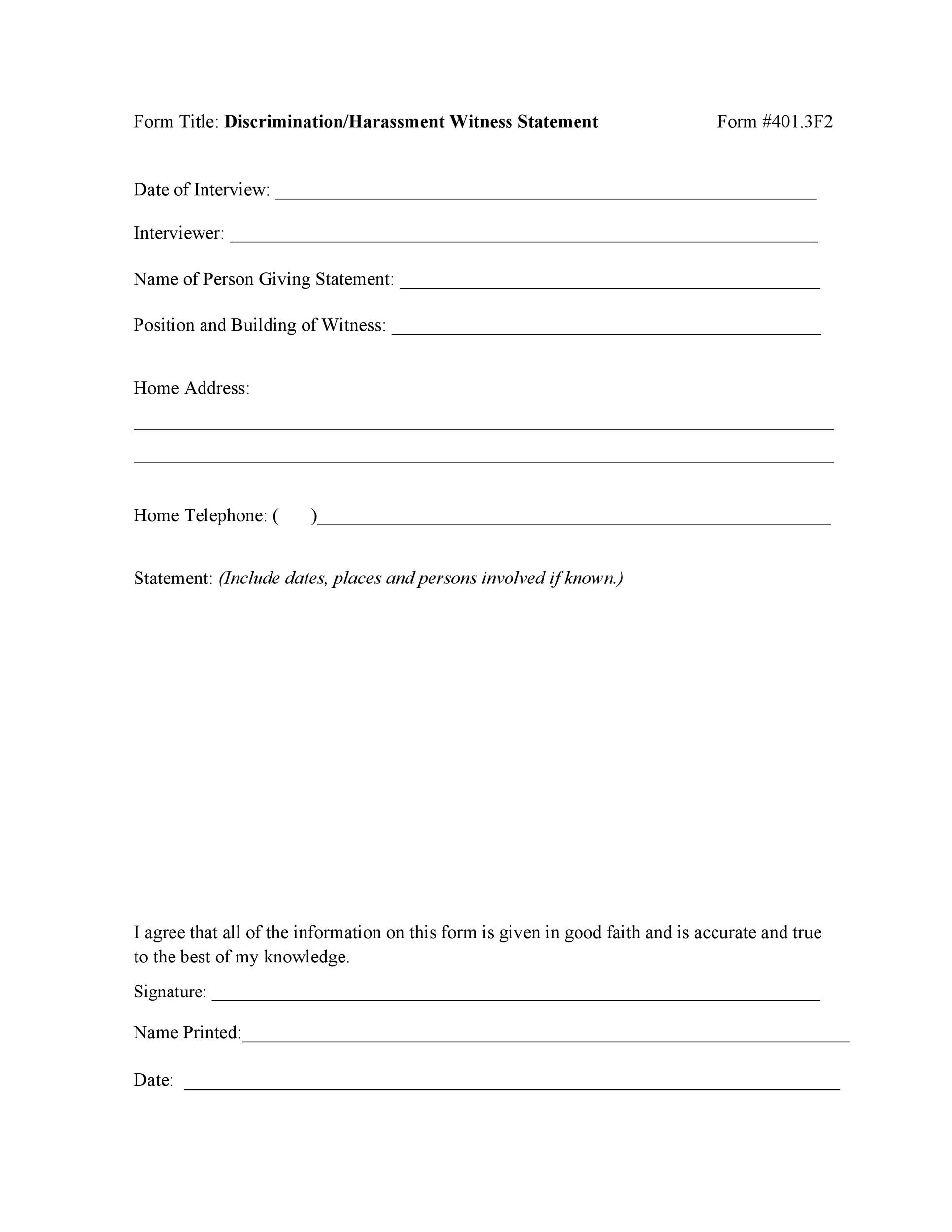 Free witness statement form 25