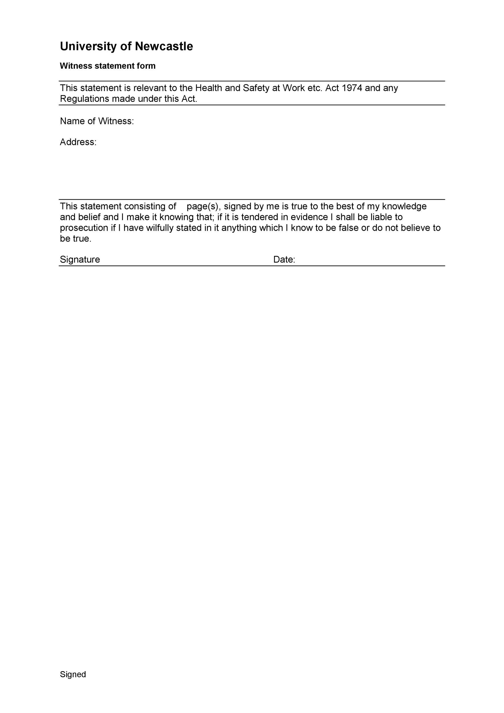 Free witness statement form 36