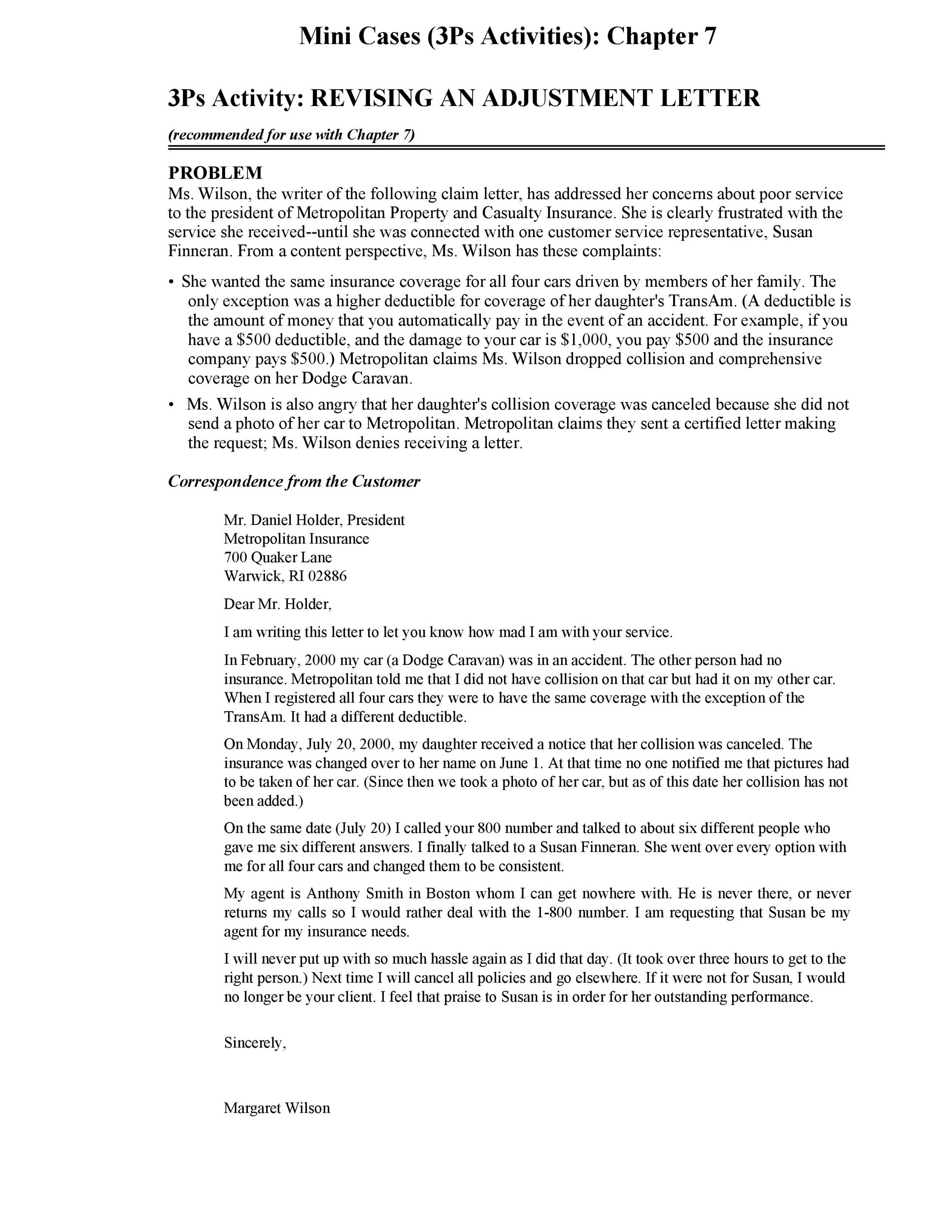 Free adjustment letter 02