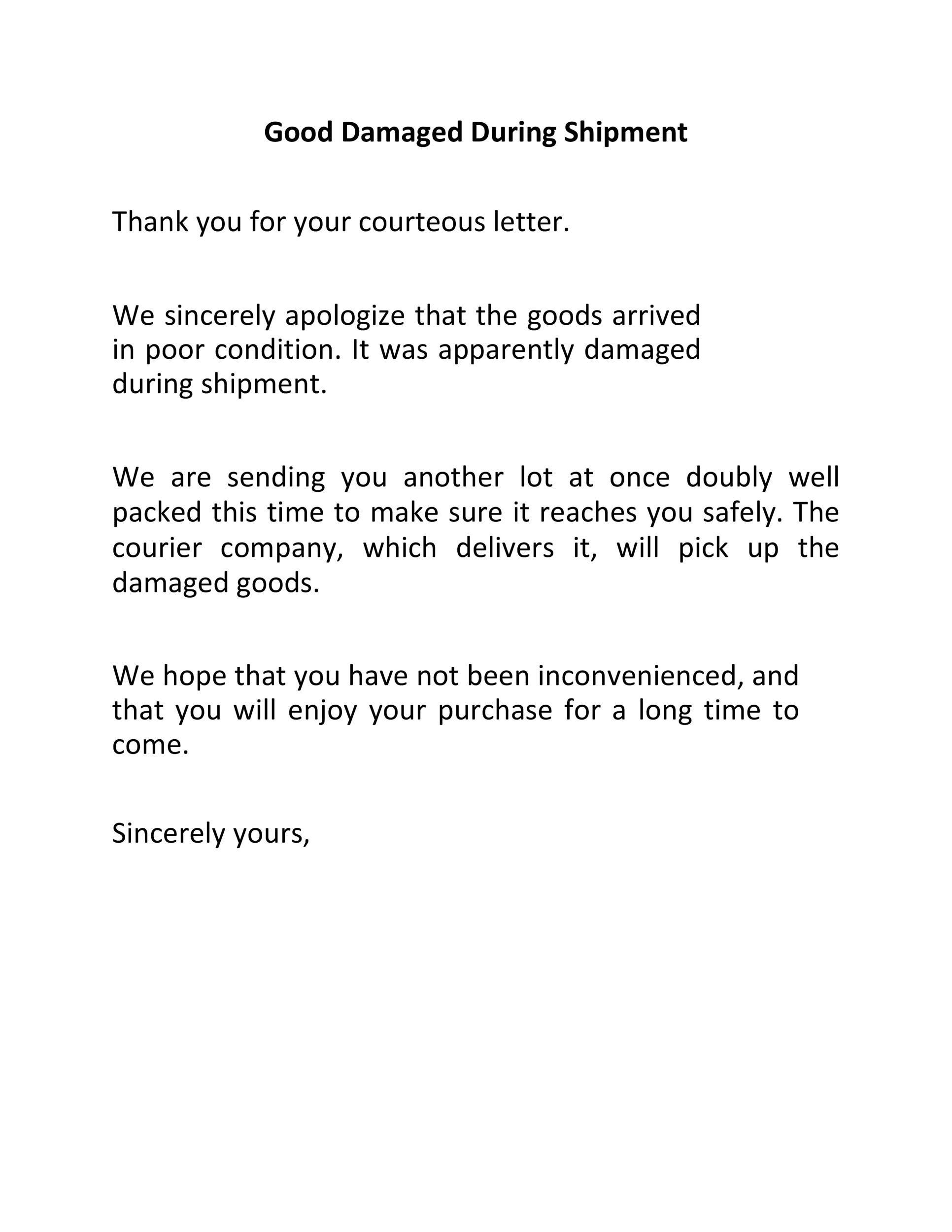 Free adjustment letter 06