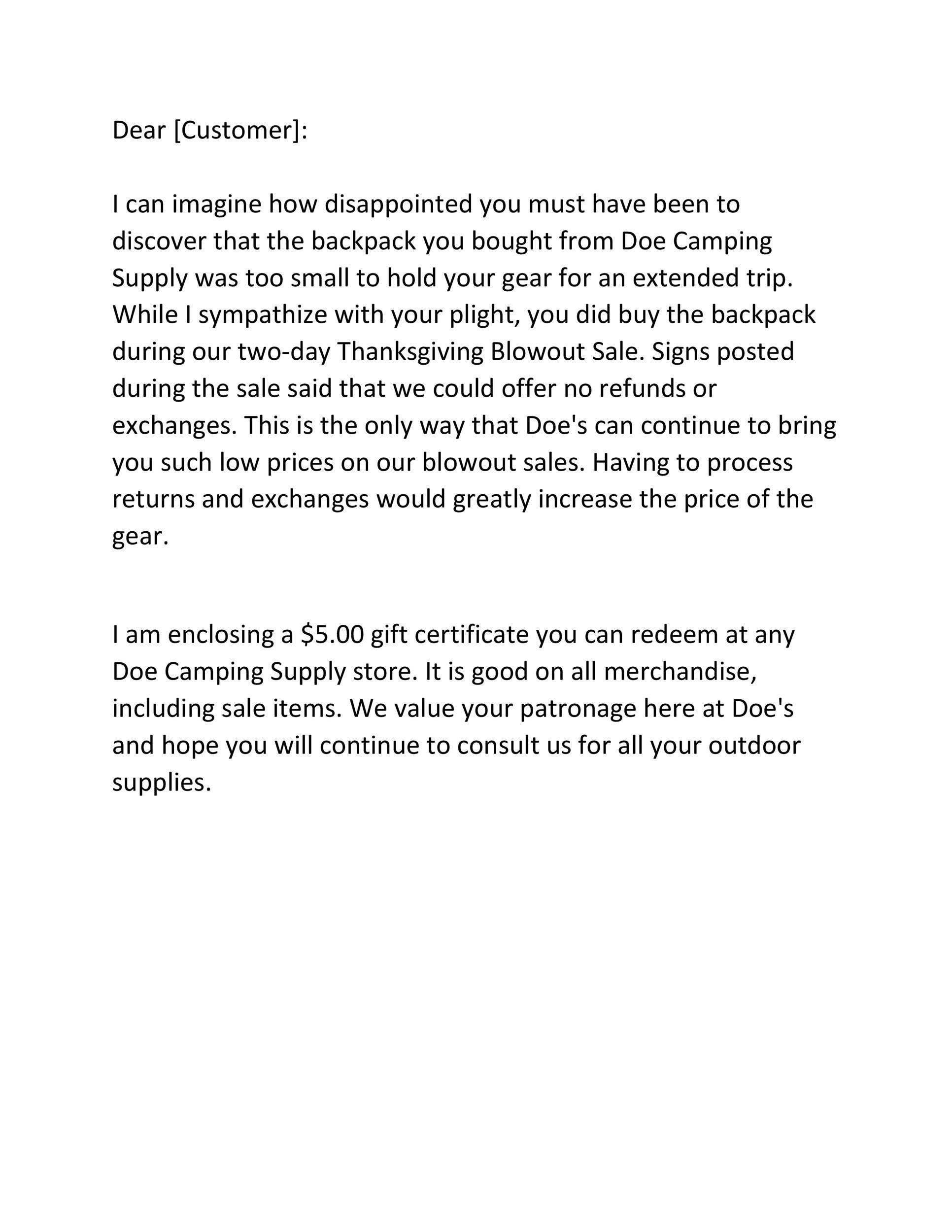 Free adjustment letter 21