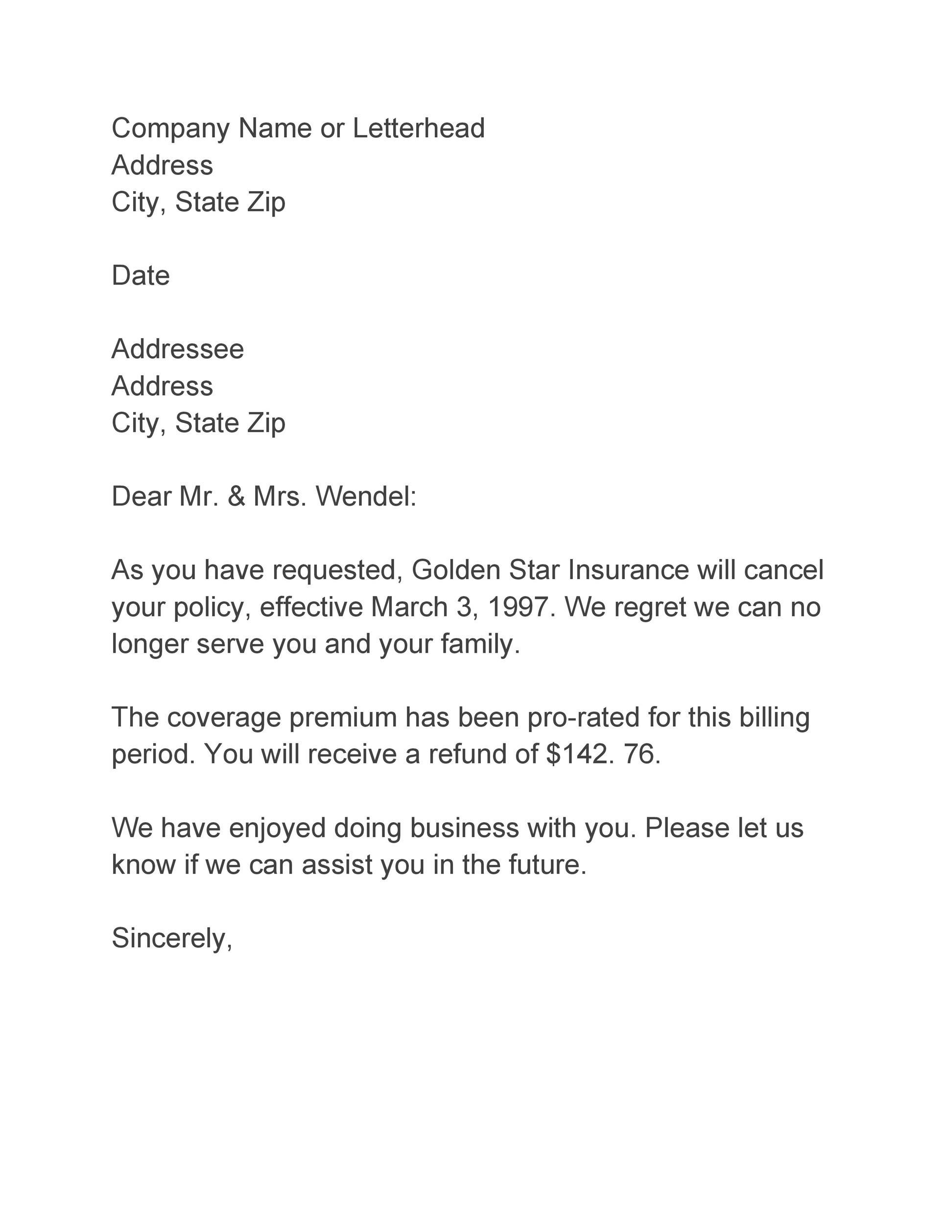 Free adjustment letter 28