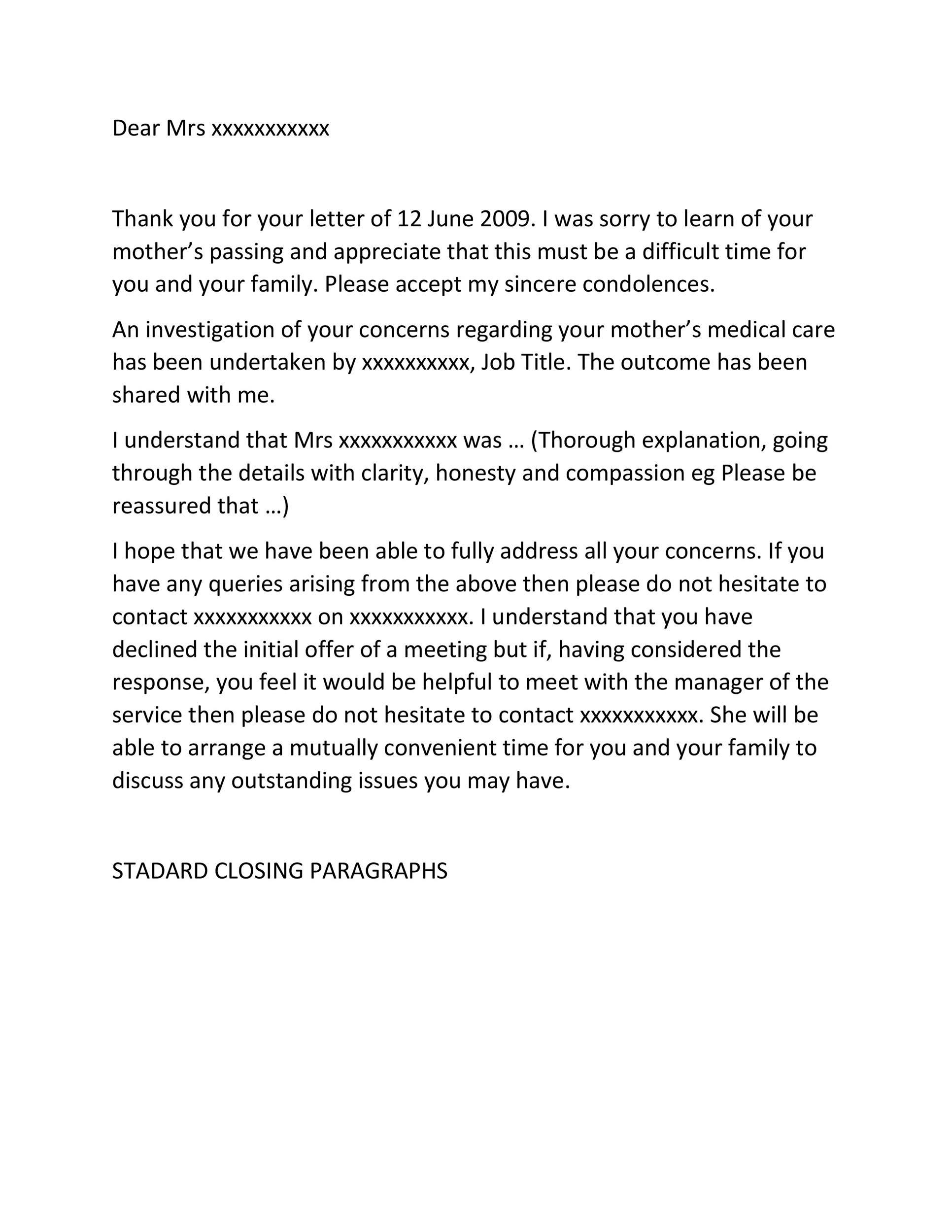 Free adjustment letter 37