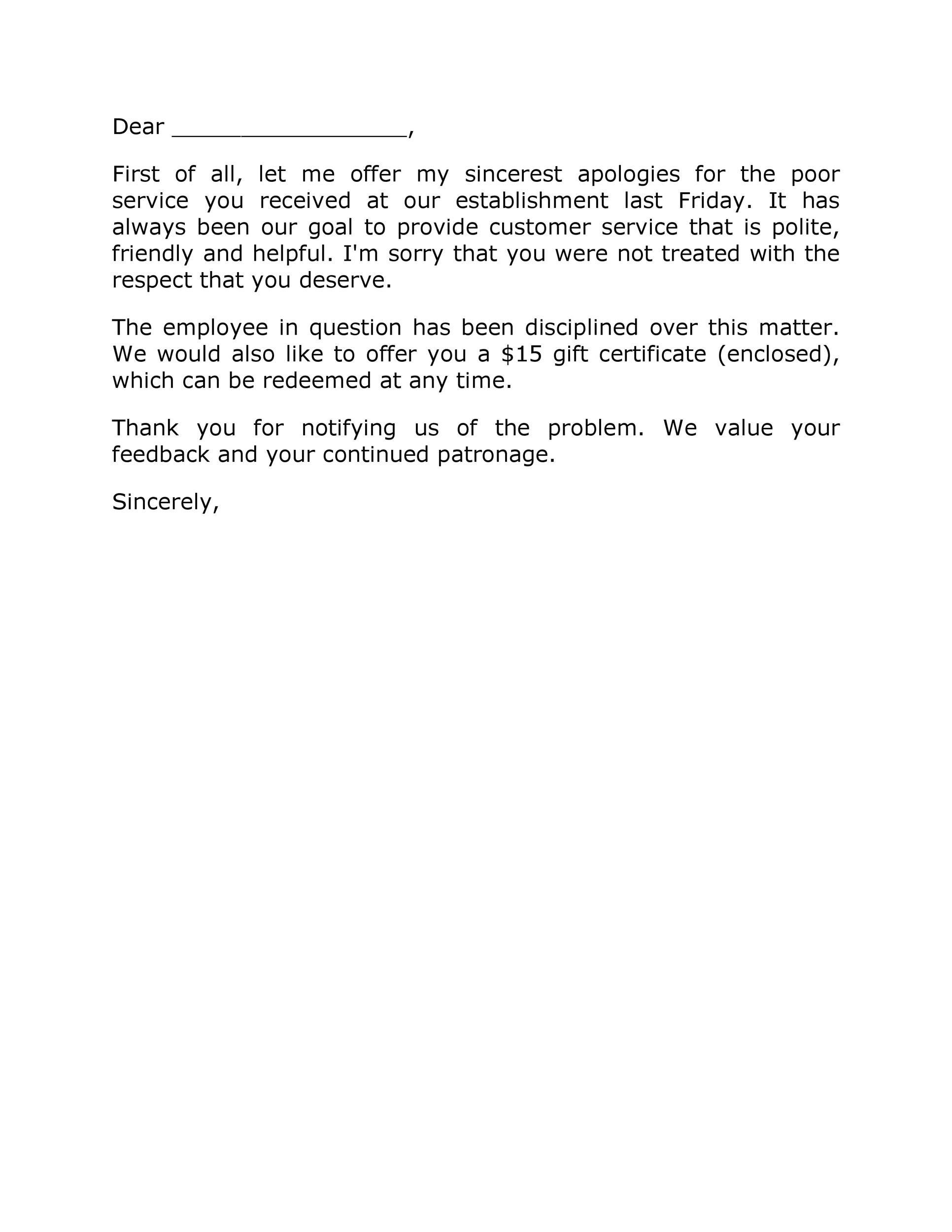 Free adjustment letter 38