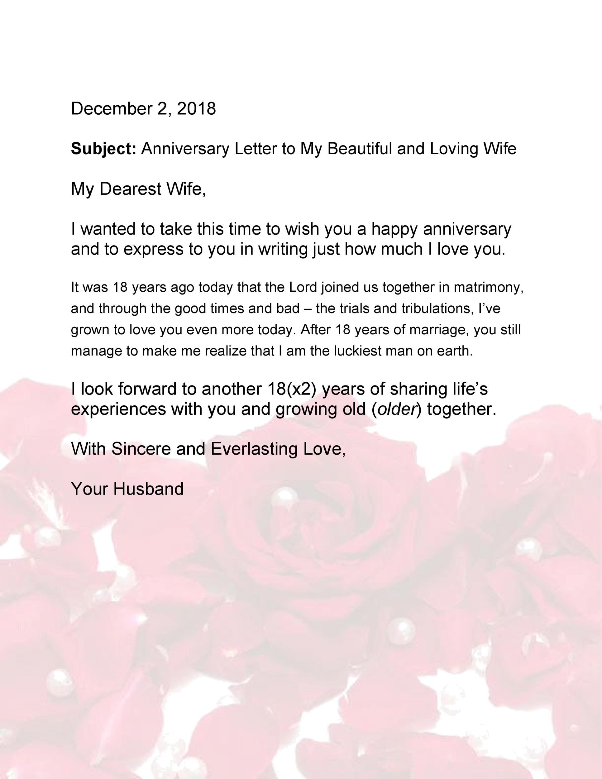 Anniversary Letters