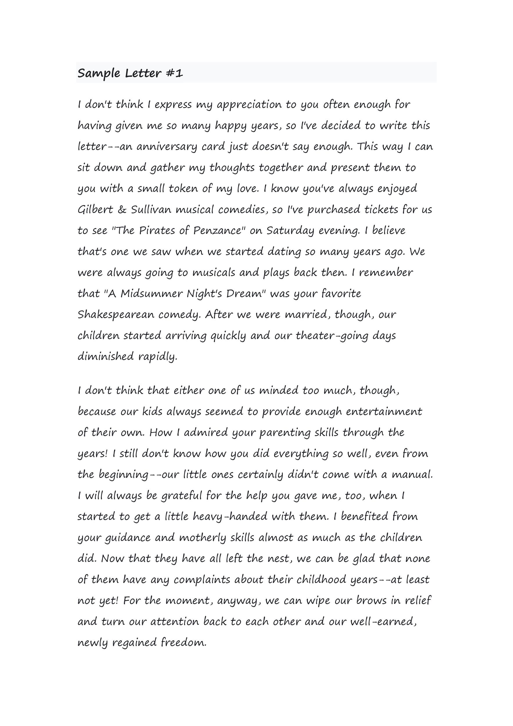 50 Romantic Anniversary Letters (for him or her) ᐅ Template Lab