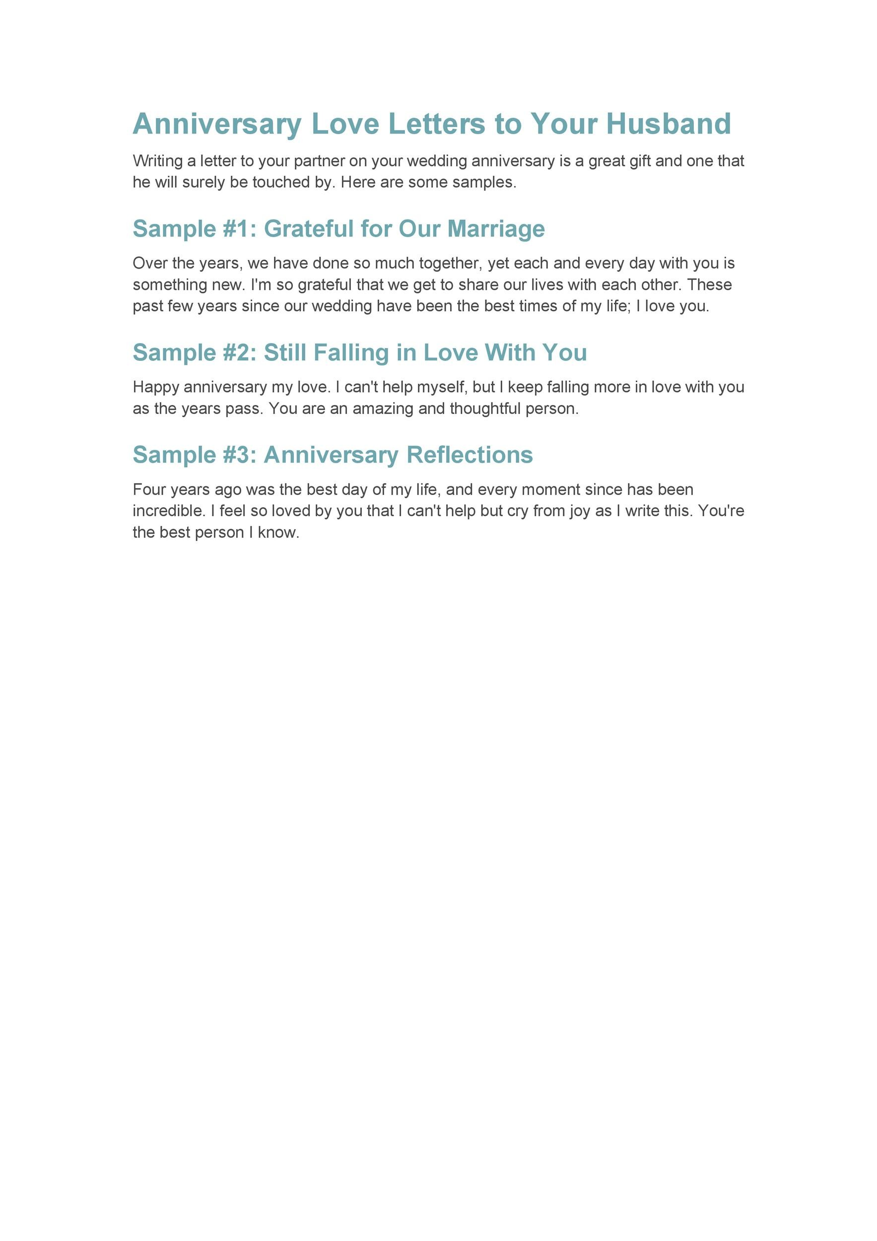 50 Romantic Anniversary Letters For Him Or Her ᐅ Template Lab