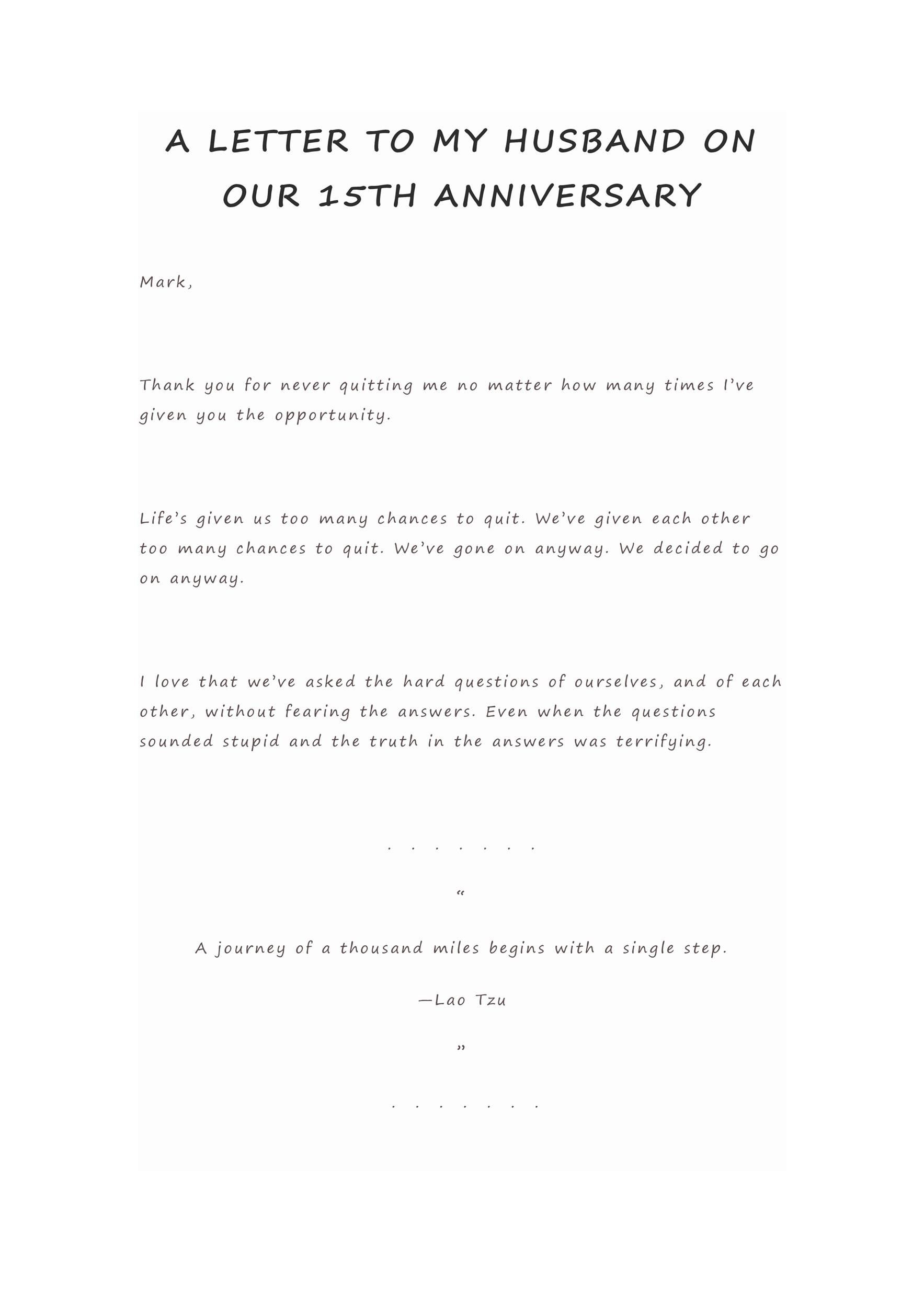 Free anniversary letter 10