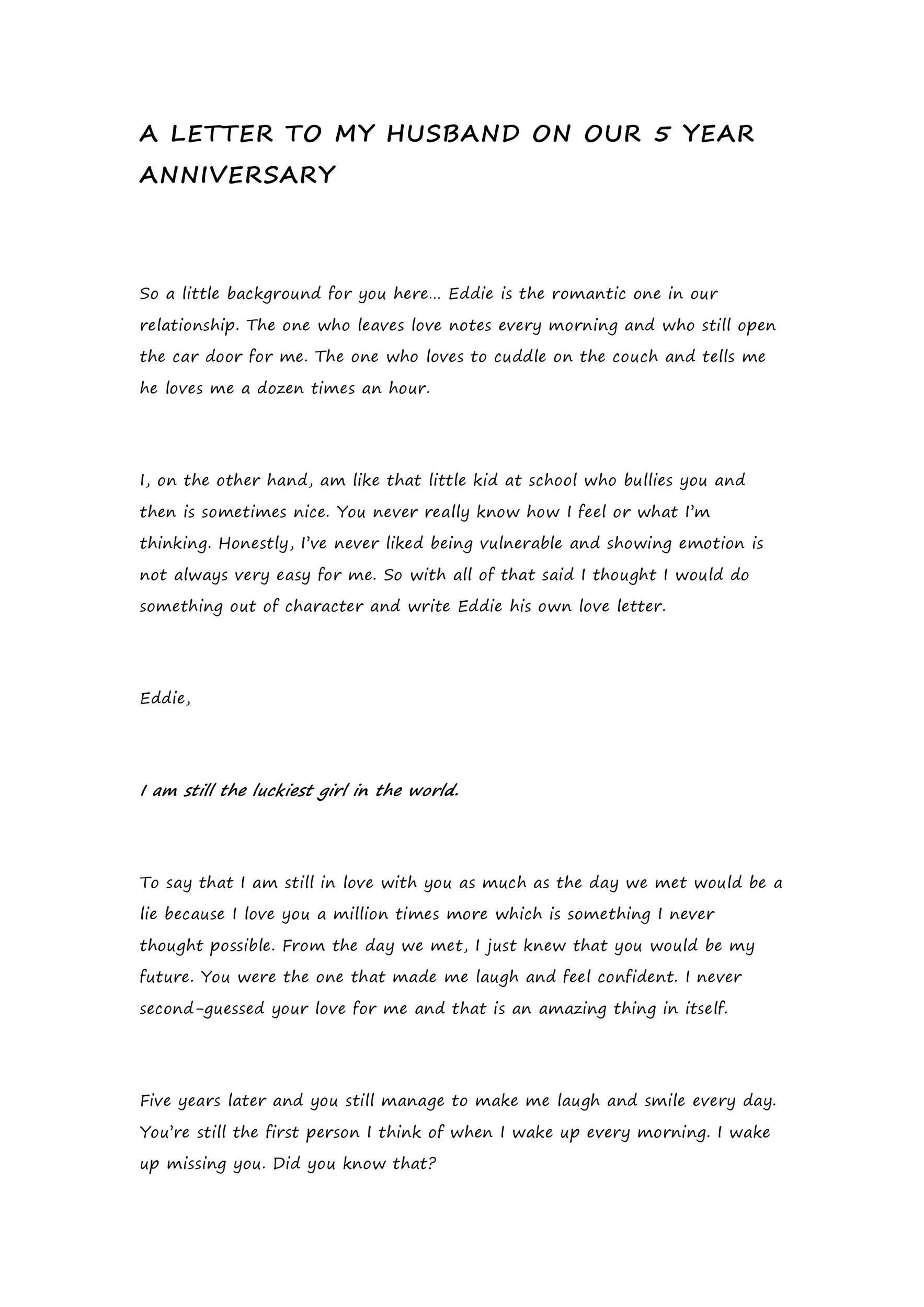 Free anniversary letter 14