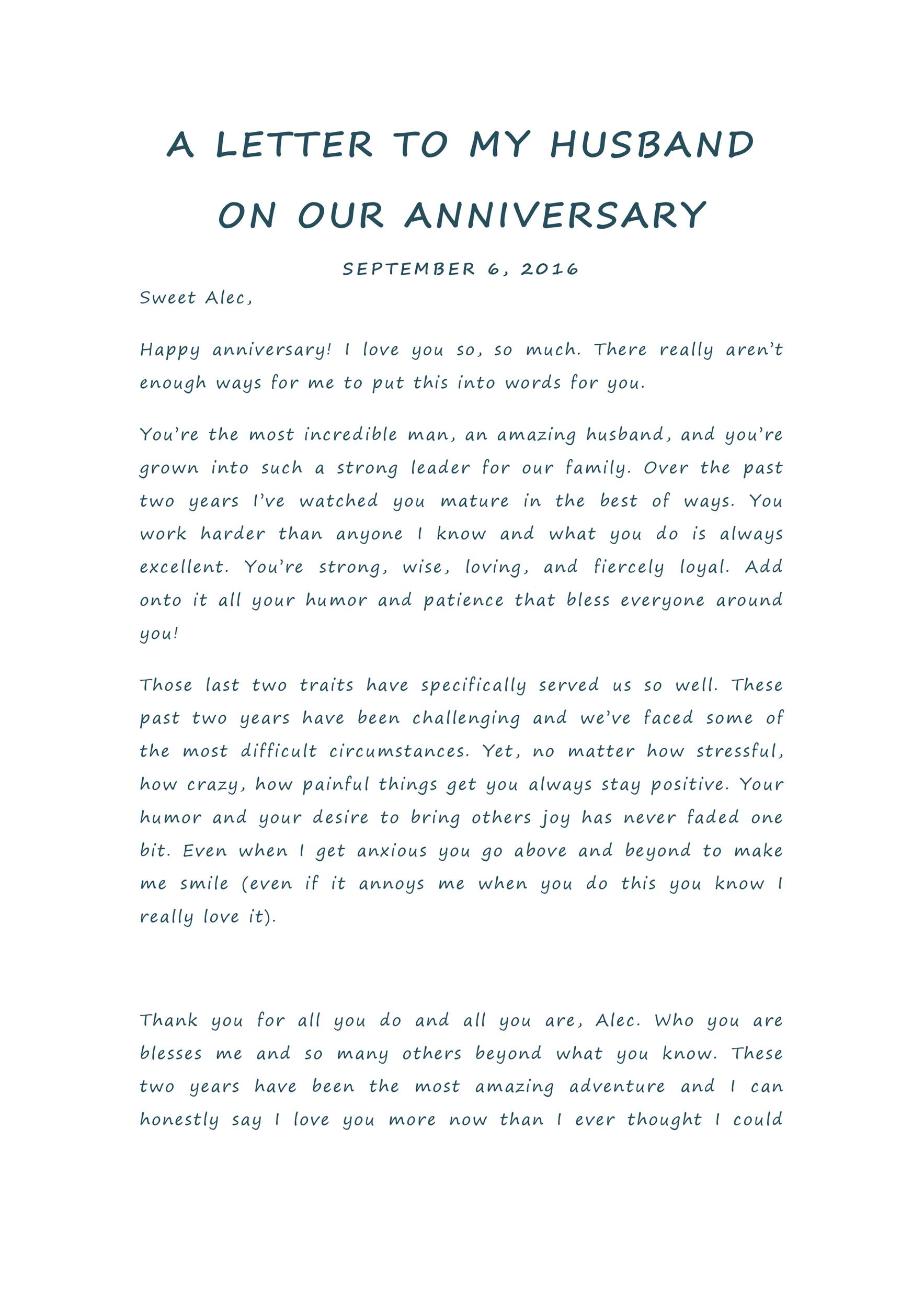Free anniversary letter 16