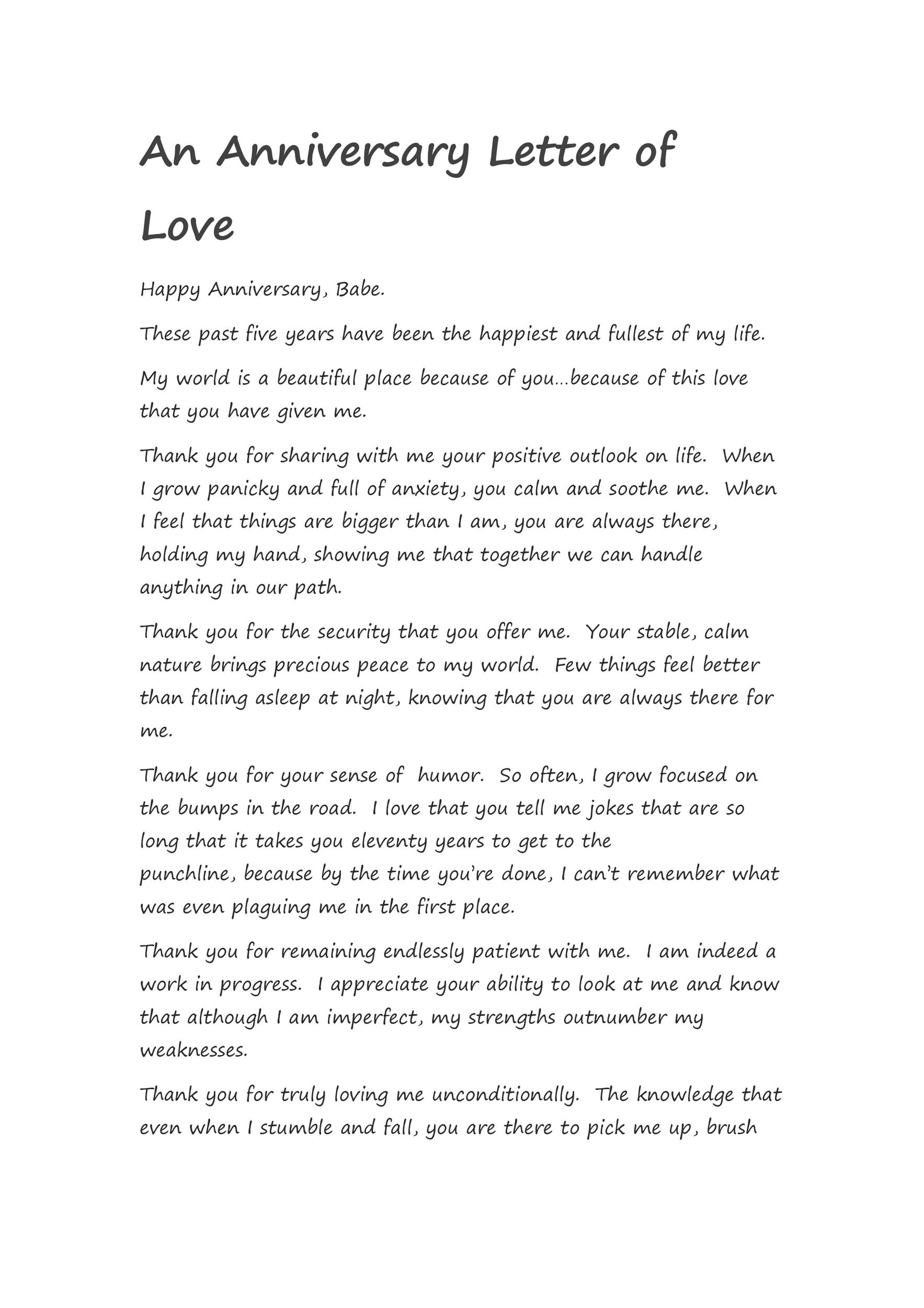 Free anniversary letter 18