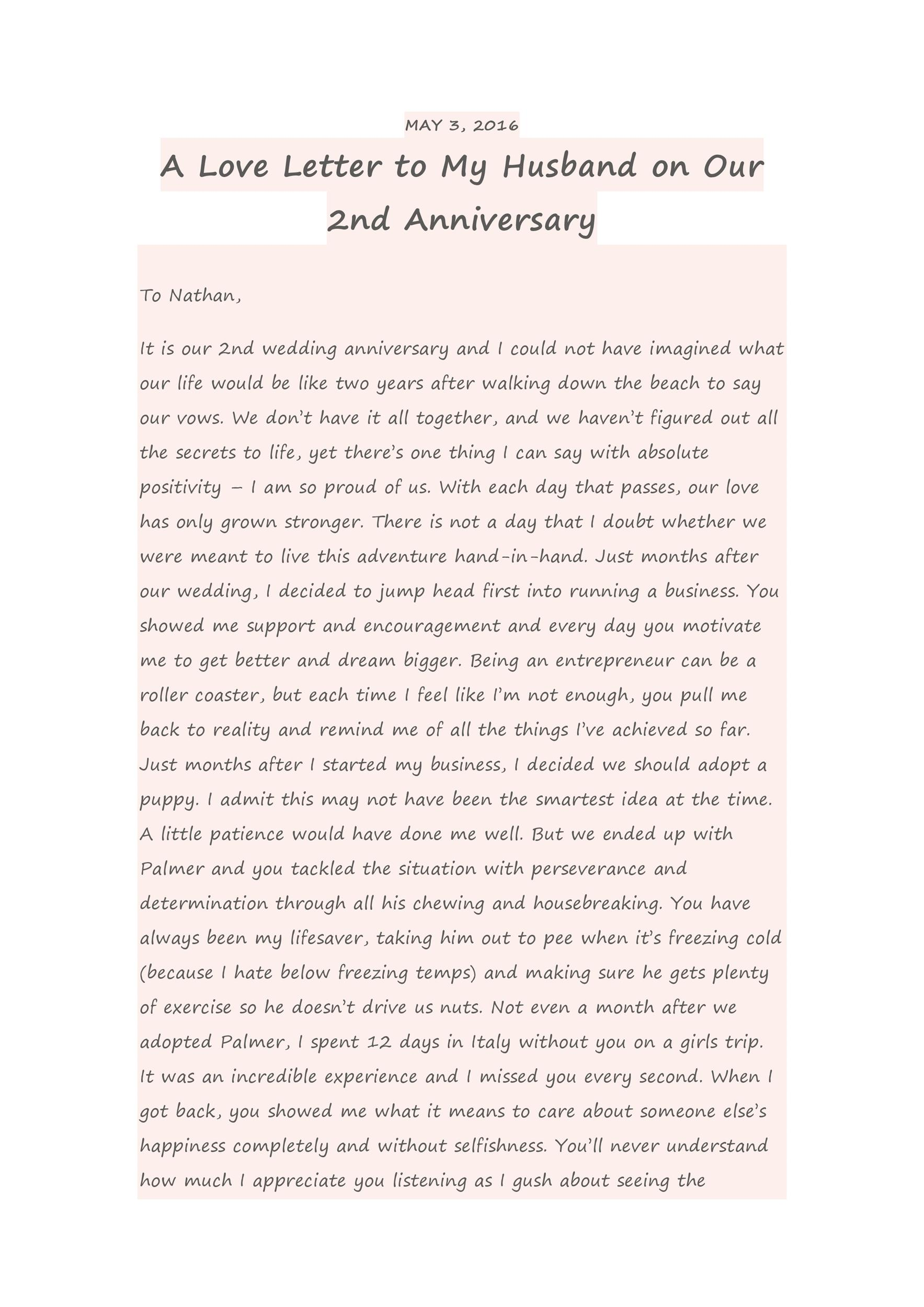 Free anniversary letter 20