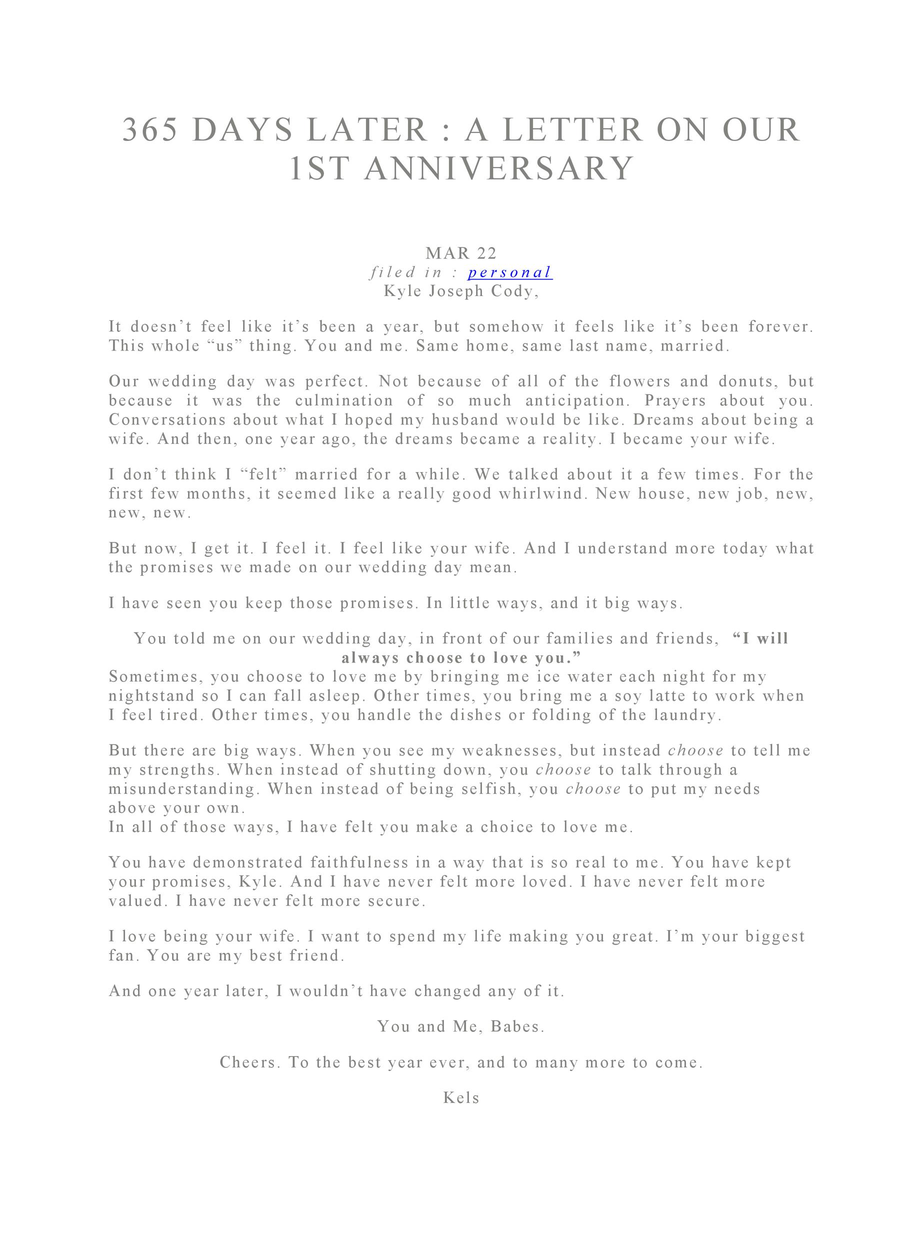 Letter To Your Husband On Your Wedding Day from templatelab.com