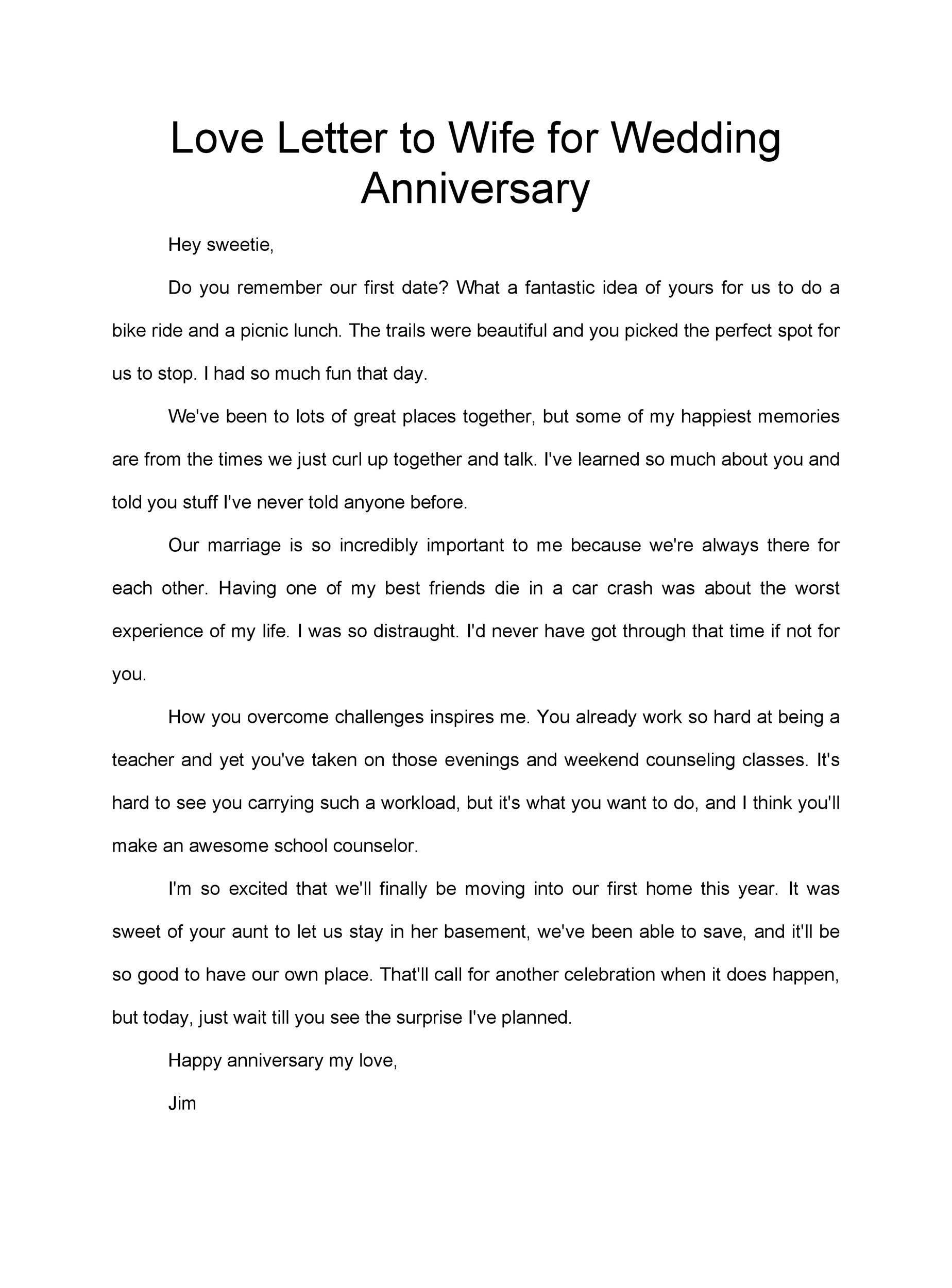 Free anniversary letter 30