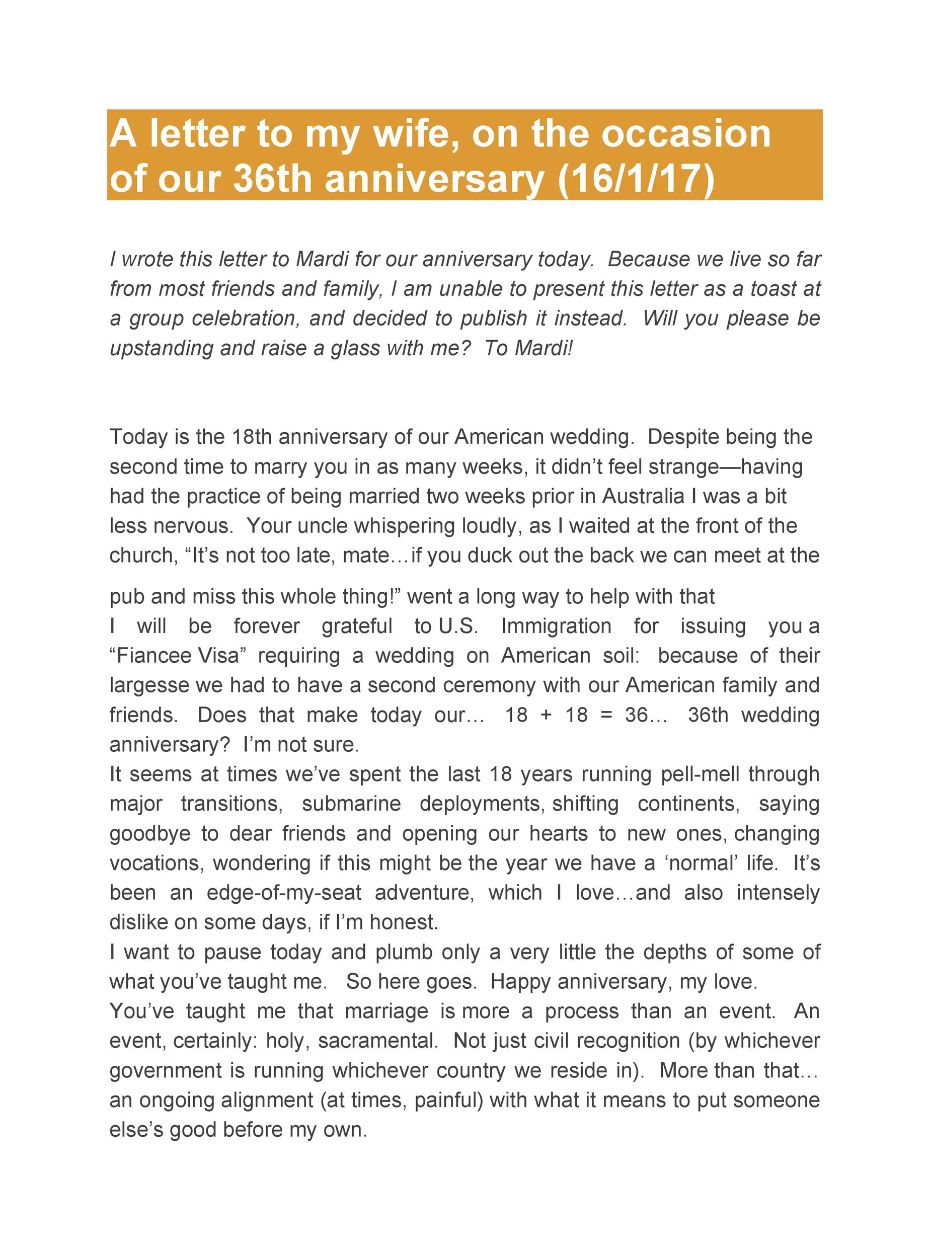 Free anniversary letter 31