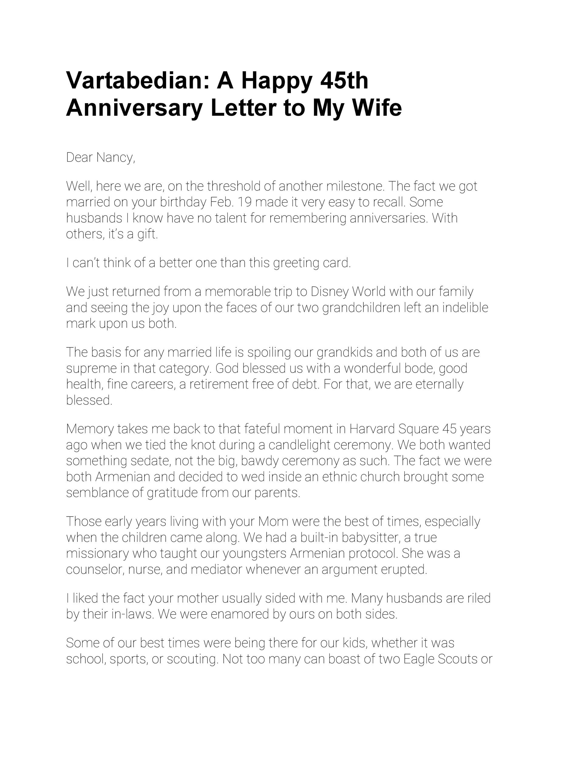 Free anniversary letter 35