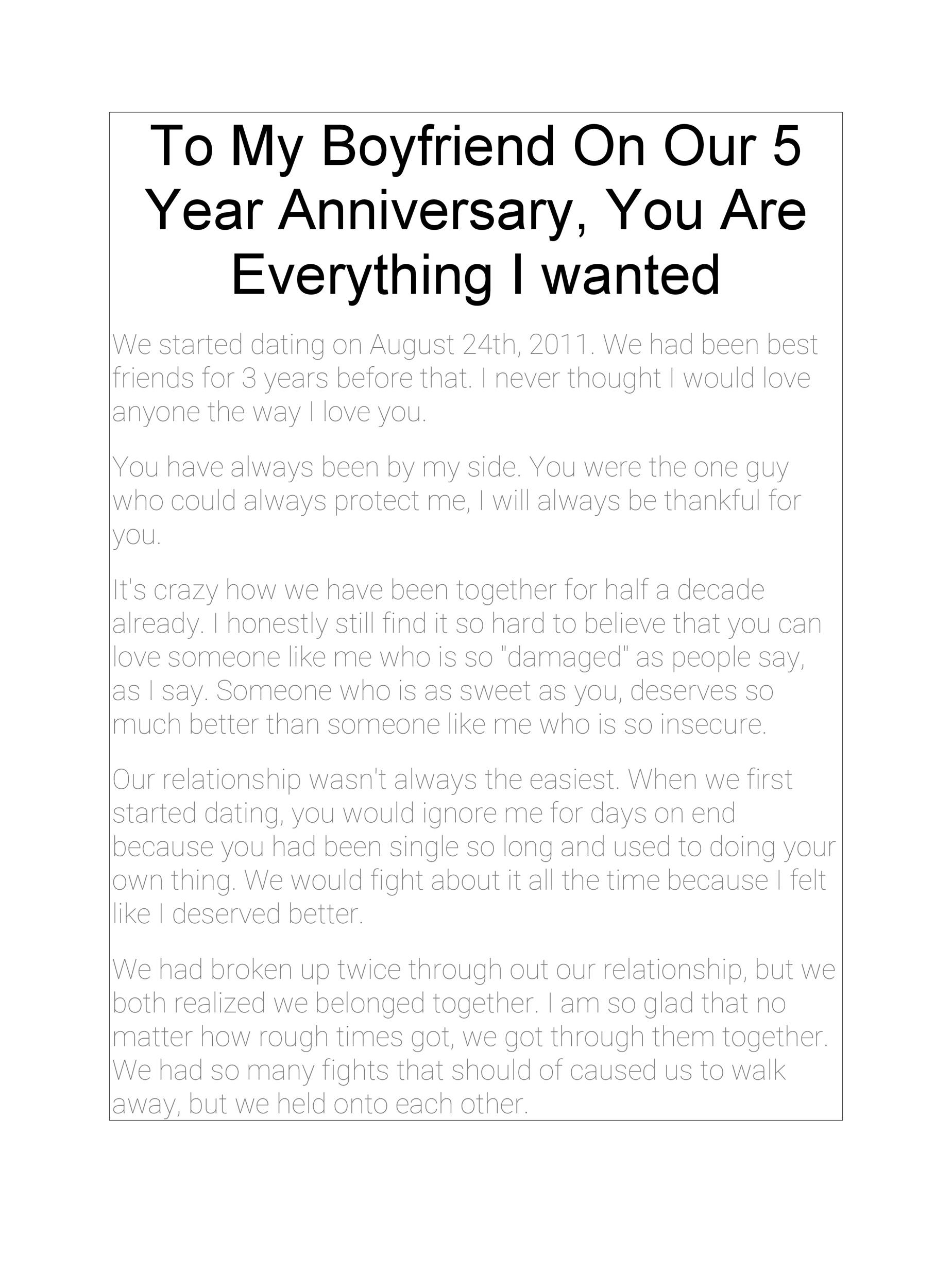 2 Year Anniversary Letter To Boyfriend from templatelab.com