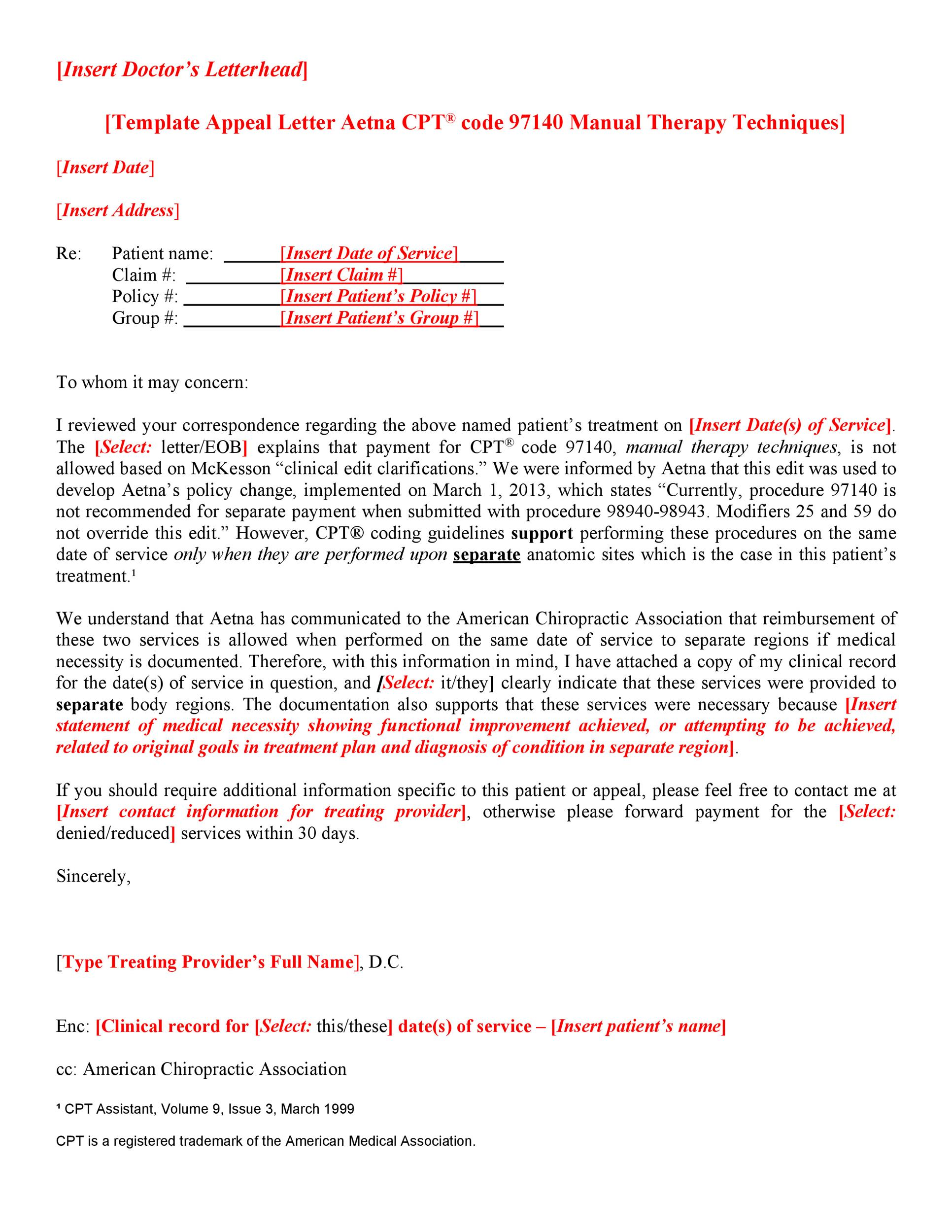 Free appeal letter 03