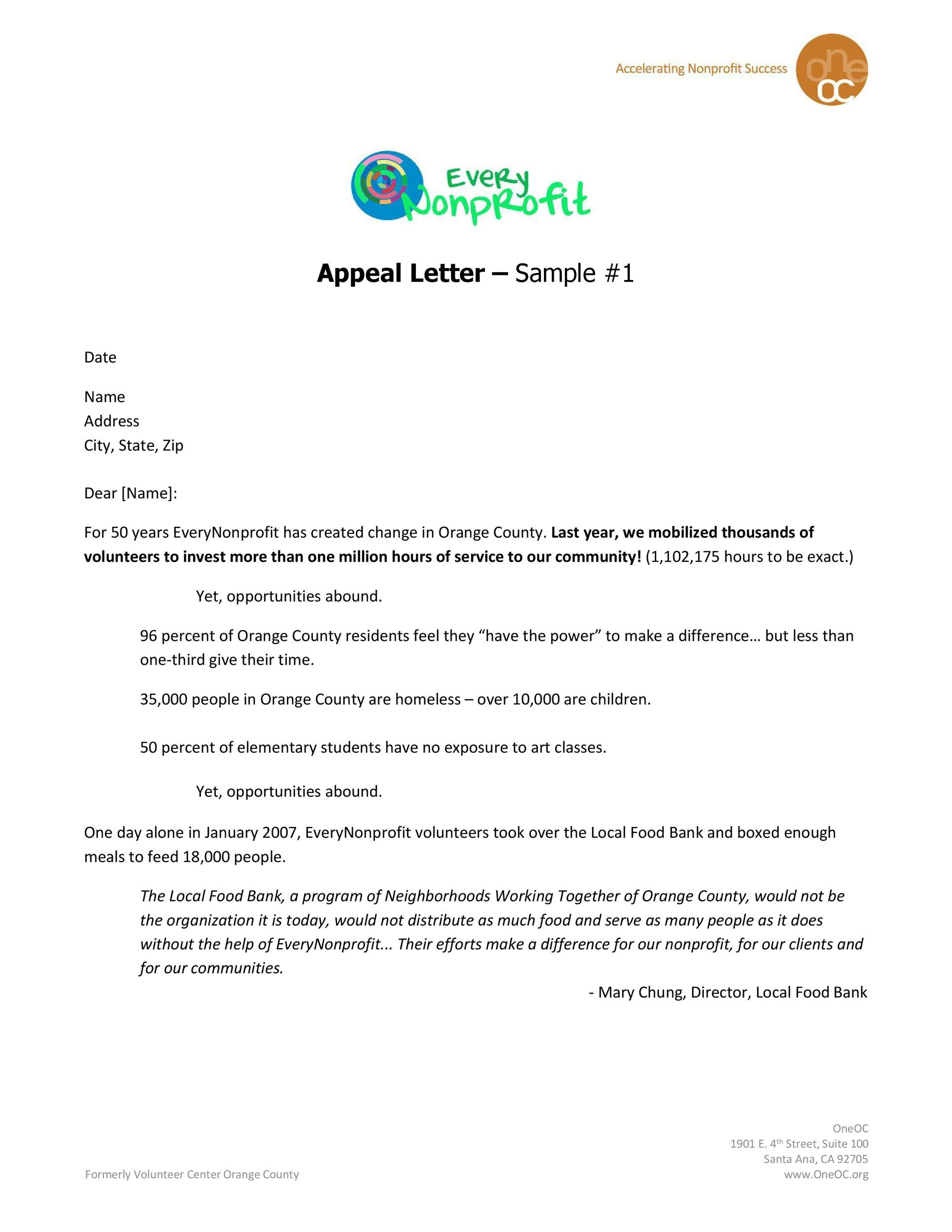 Free appeal letter 08