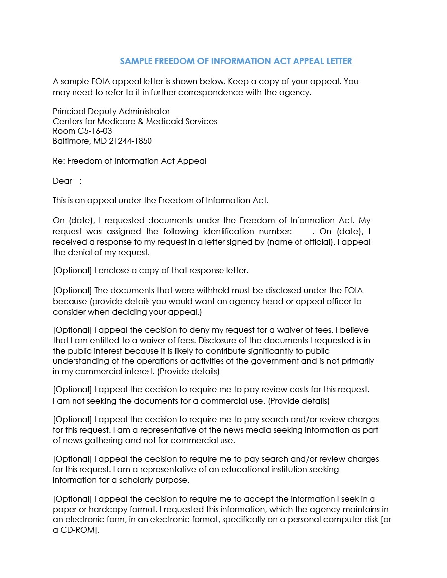 Free appeal letter 15