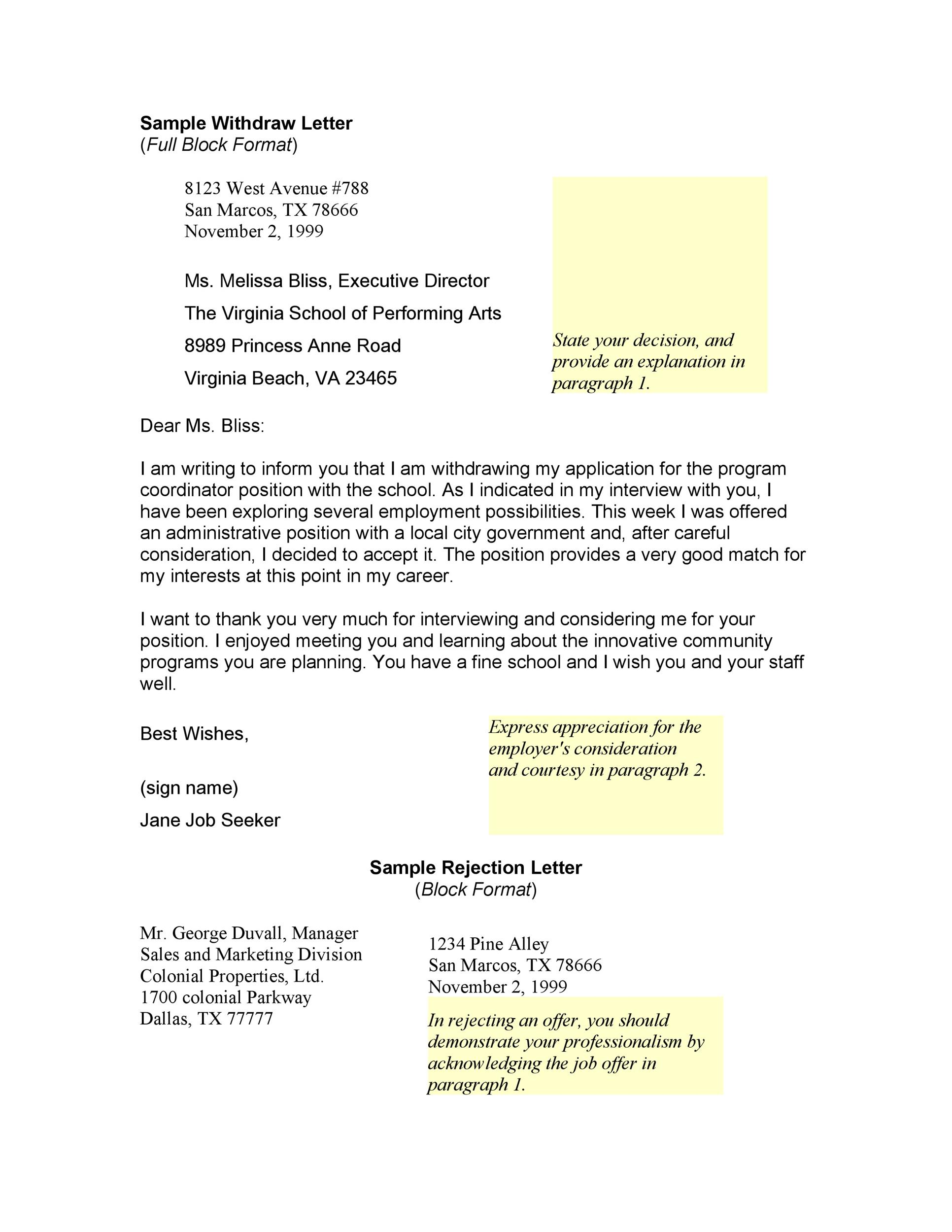 Free appeal letter 21