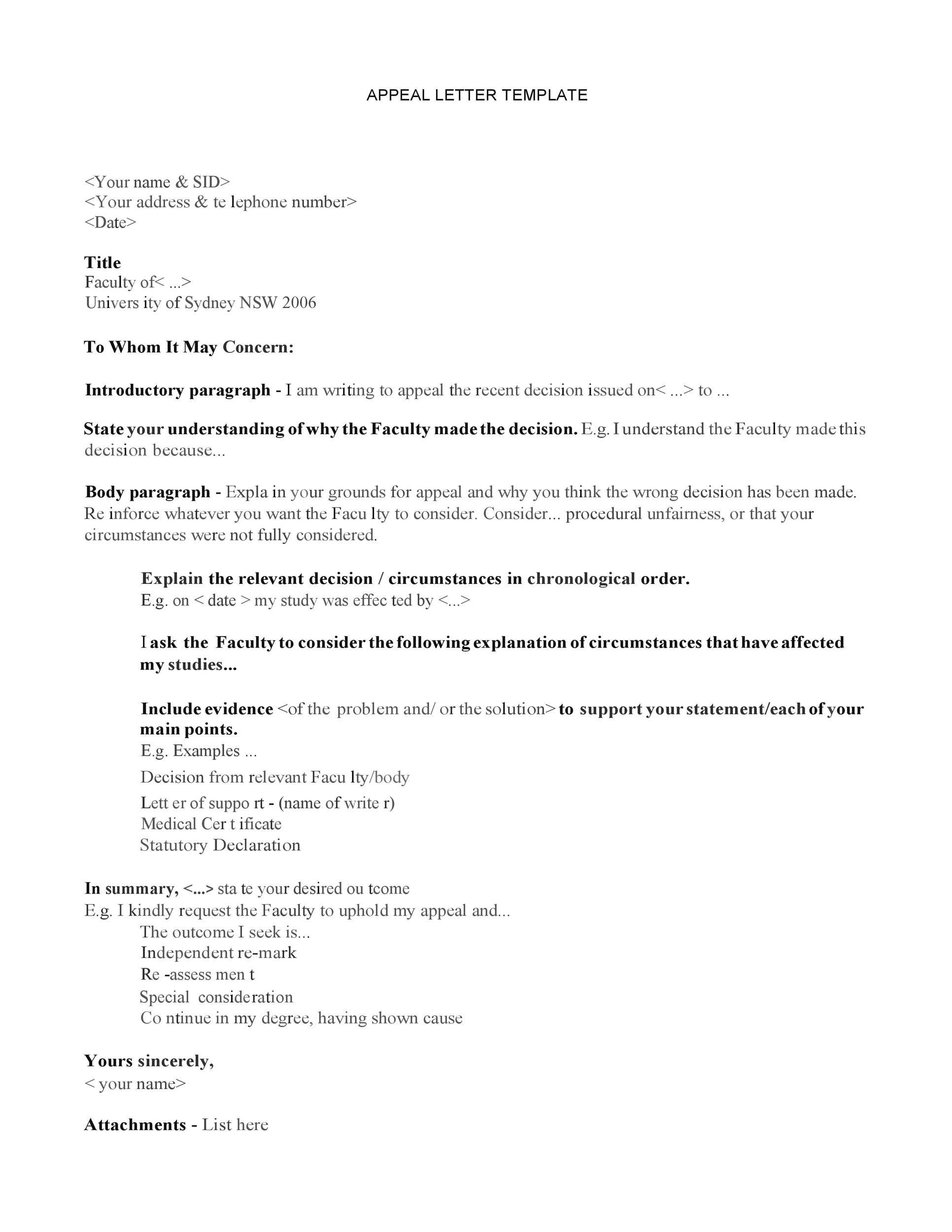 Sample Academic Dismissal Appeal Letter from templatelab.com