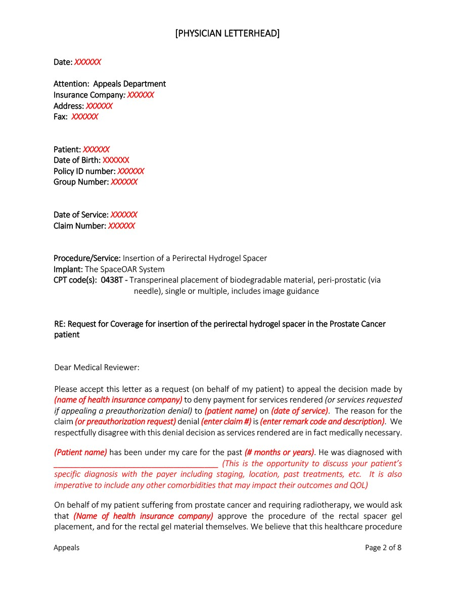 Free appeal letter 30
