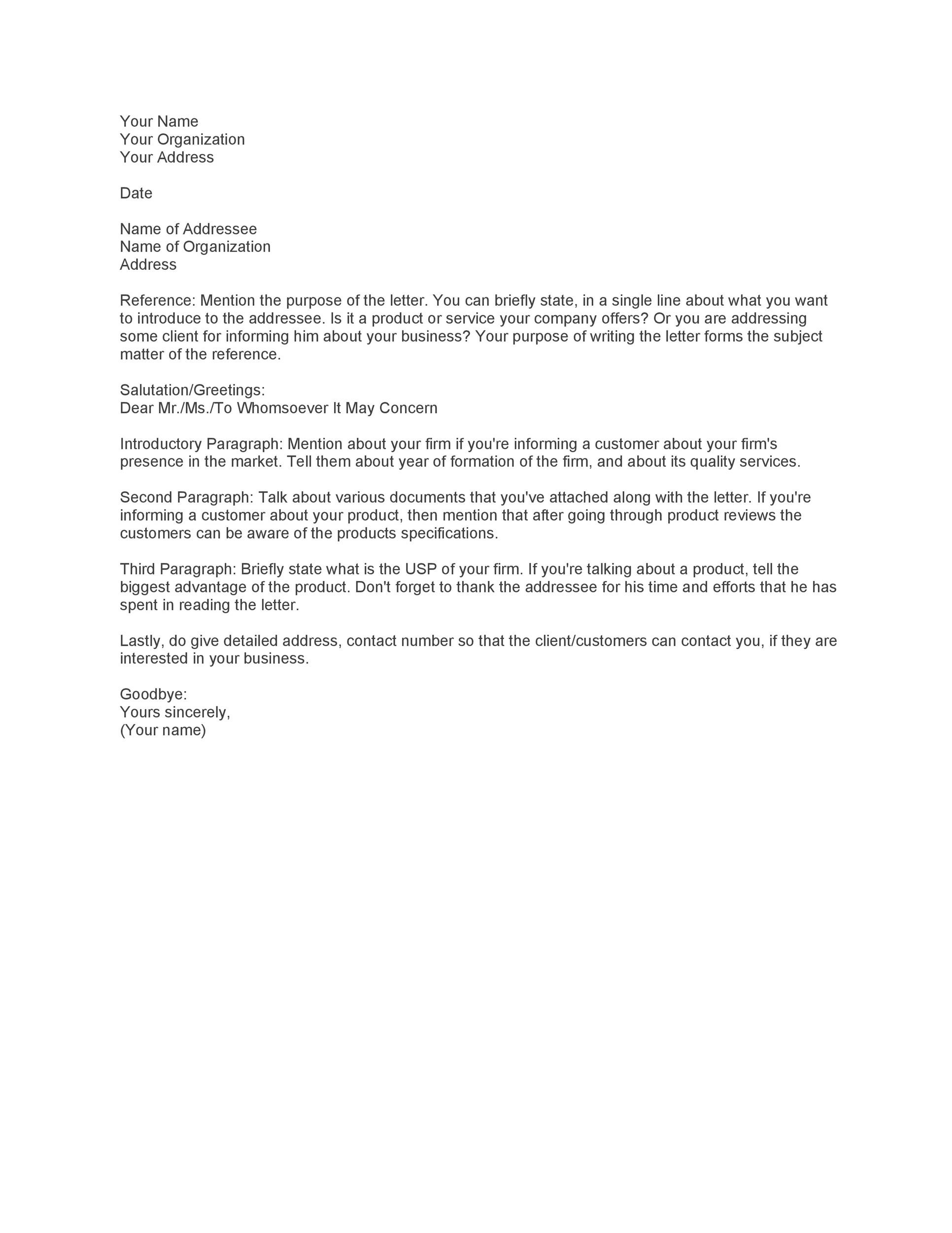Sample Introductory Letter To Prospective Clients from templatelab.com