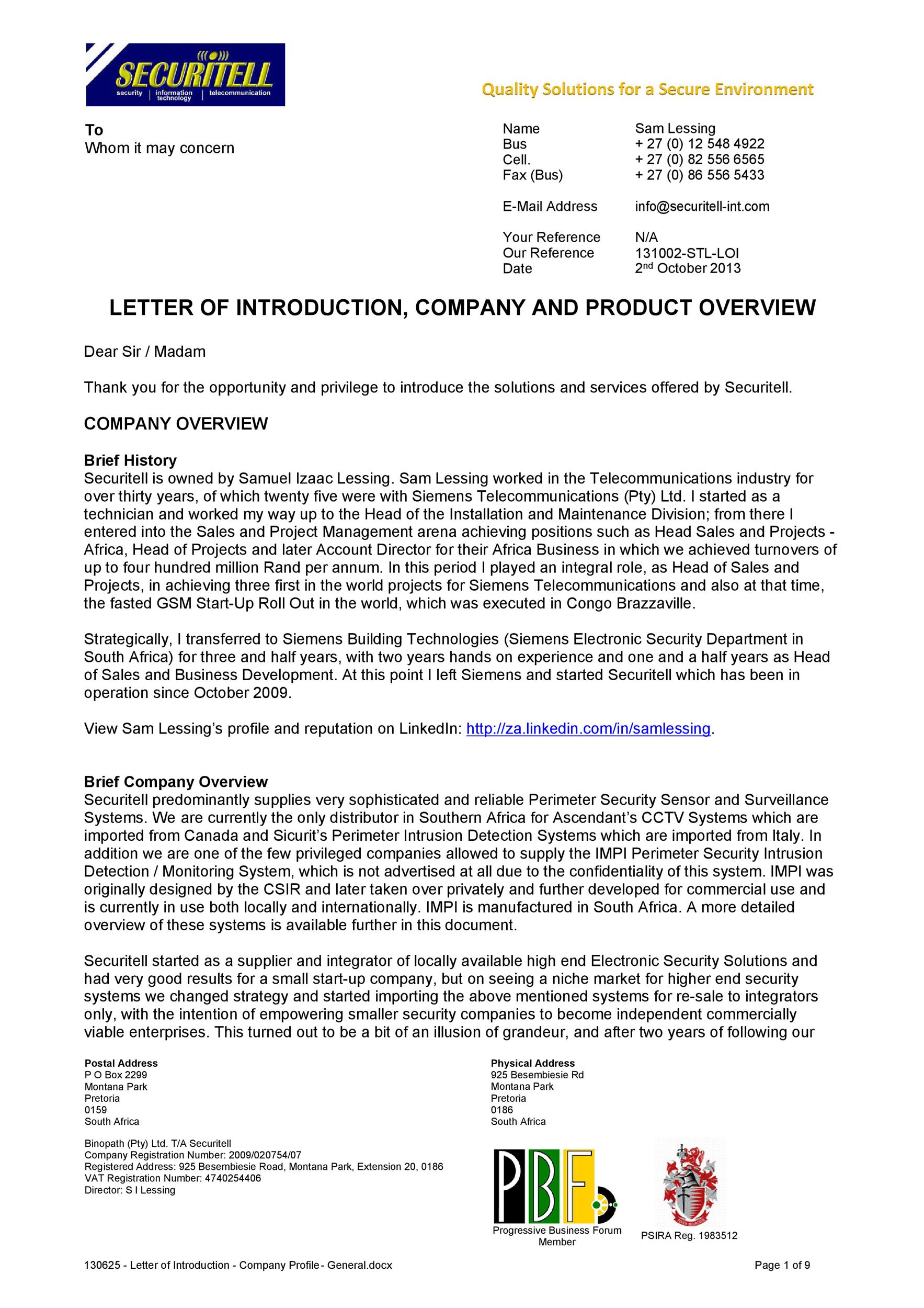 Free business introduction letter 02