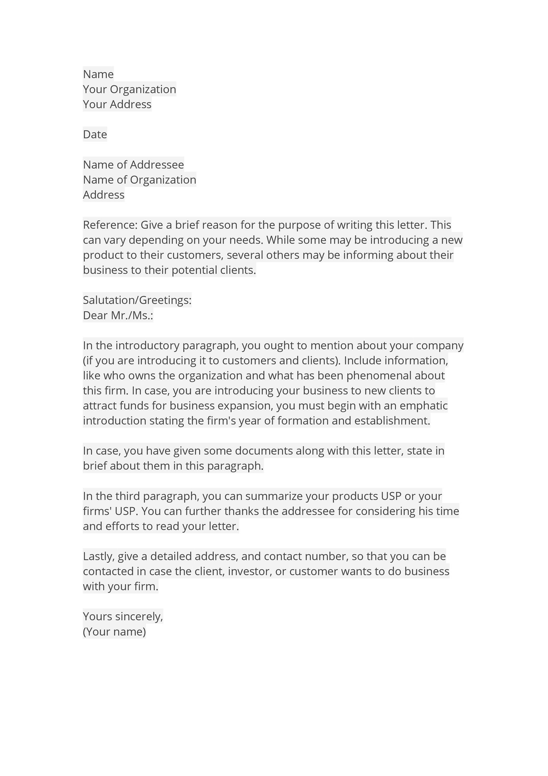 Free business introduction letter 07