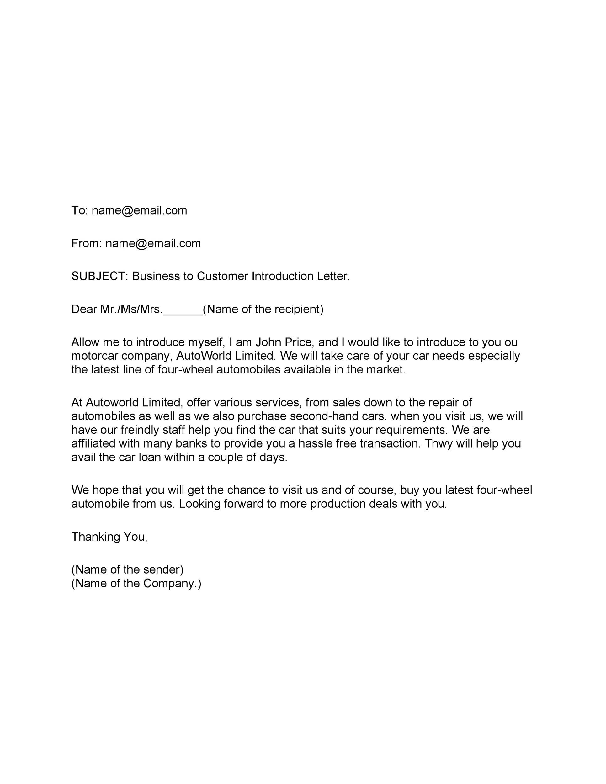 Free business introduction letter 08