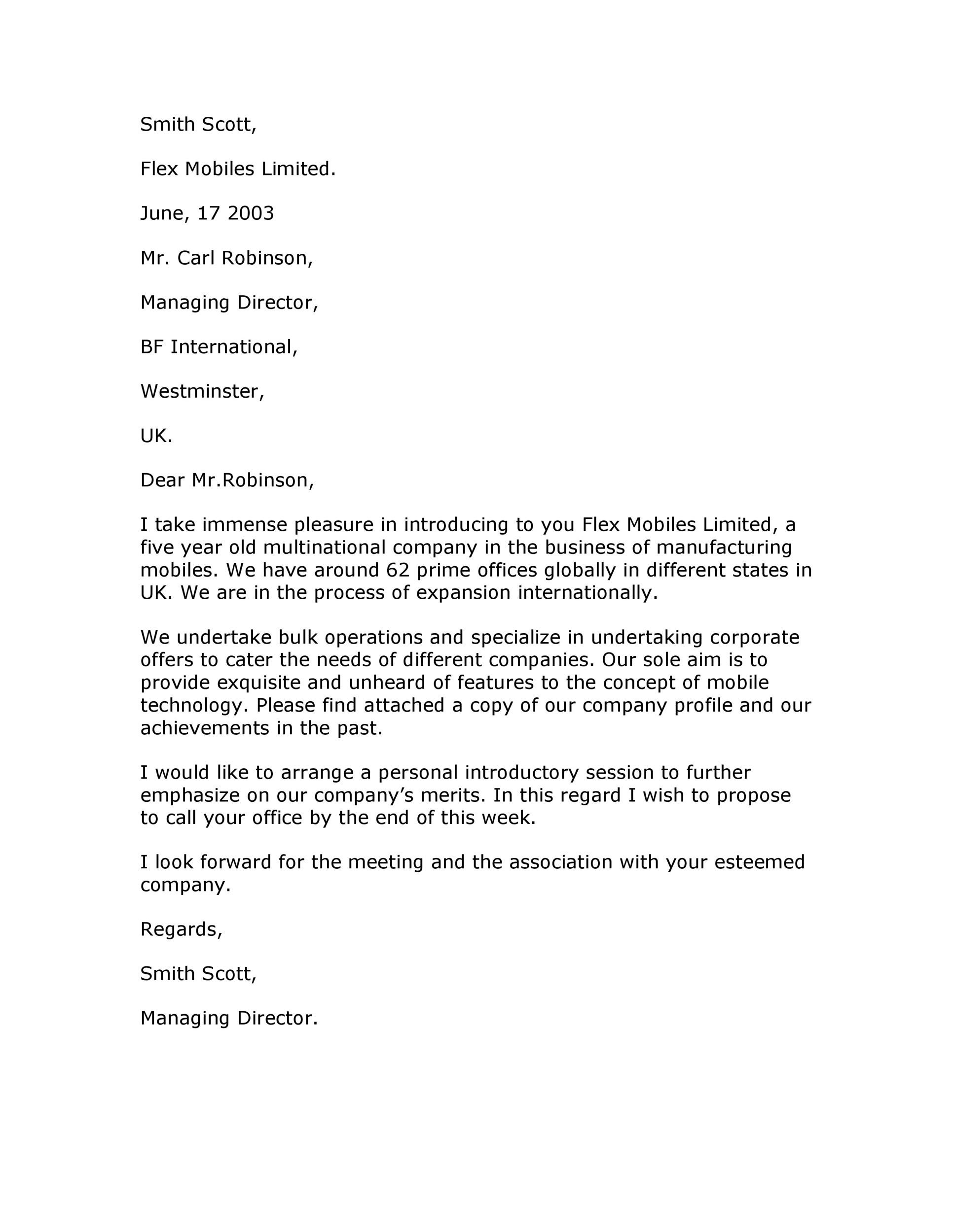 Free business introduction letter 10