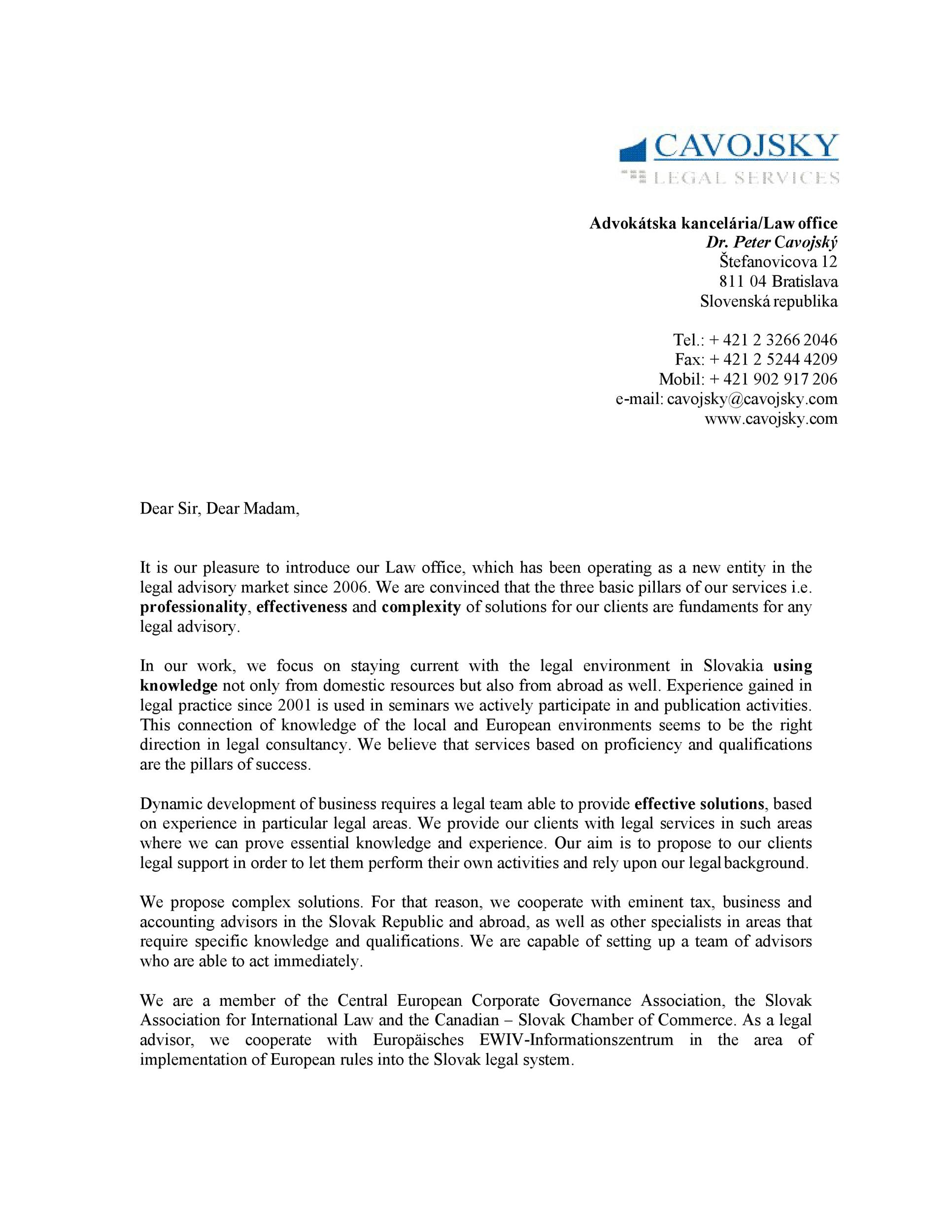 Free business introduction letter 14