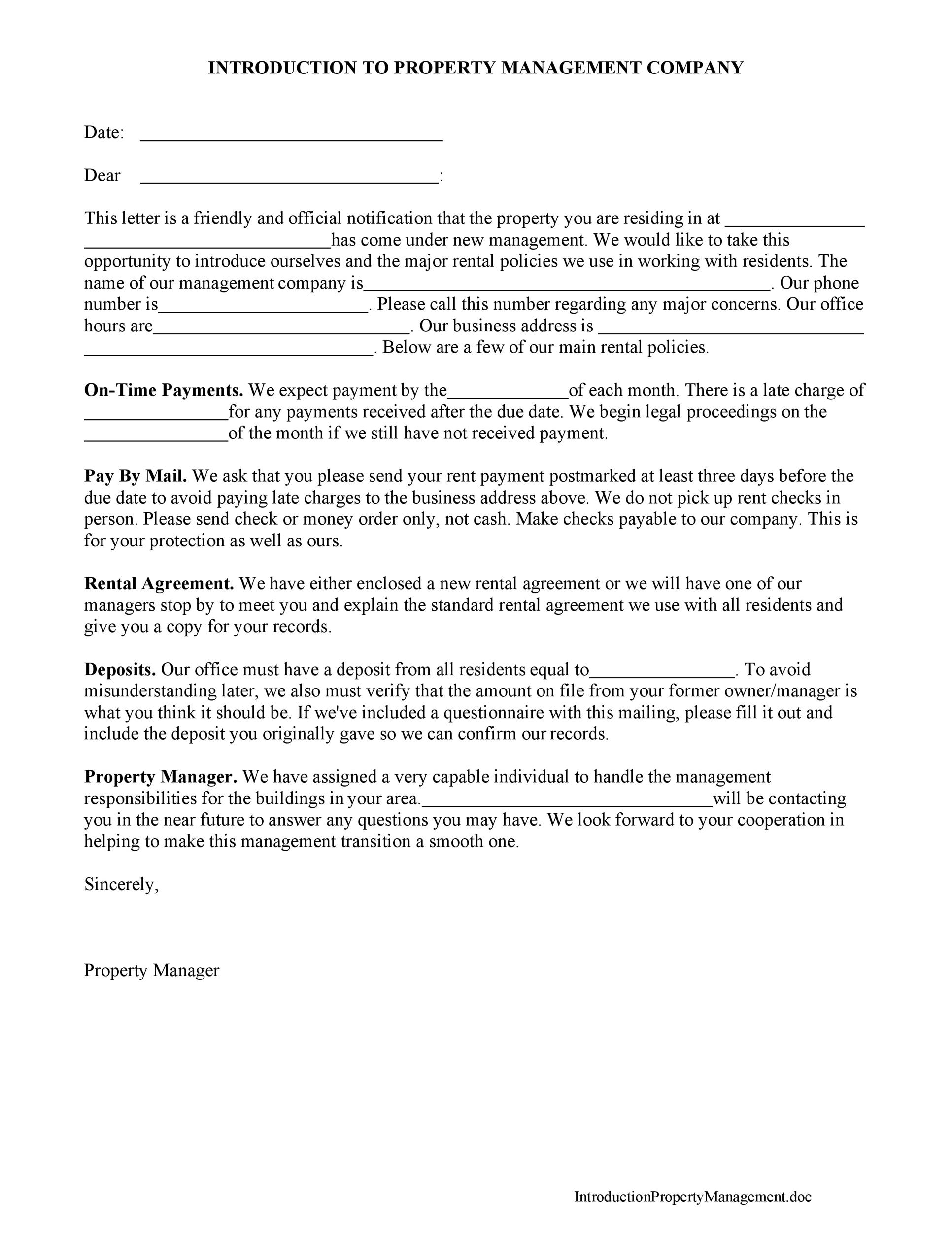Free business introduction letter 16