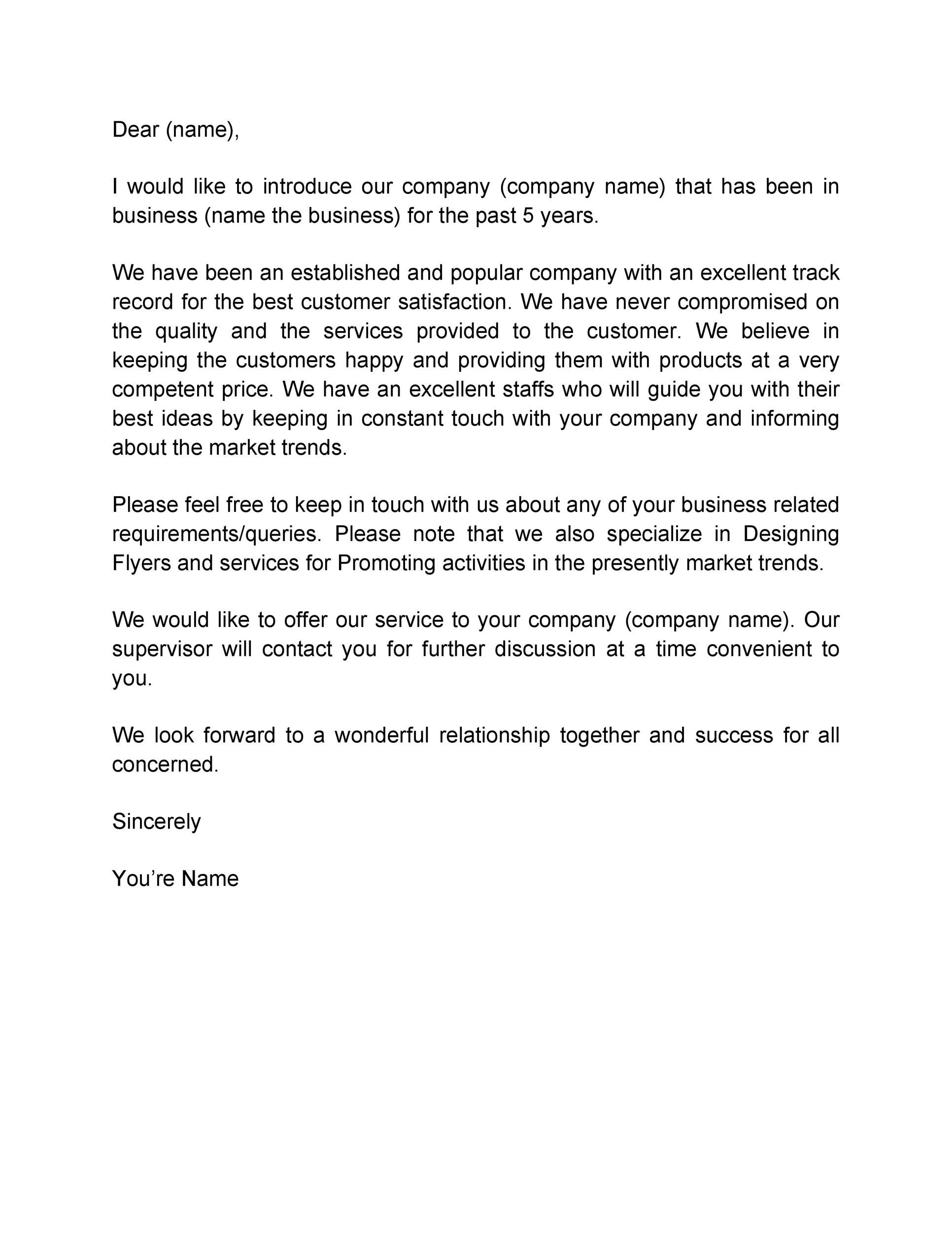 Free business introduction letter 19