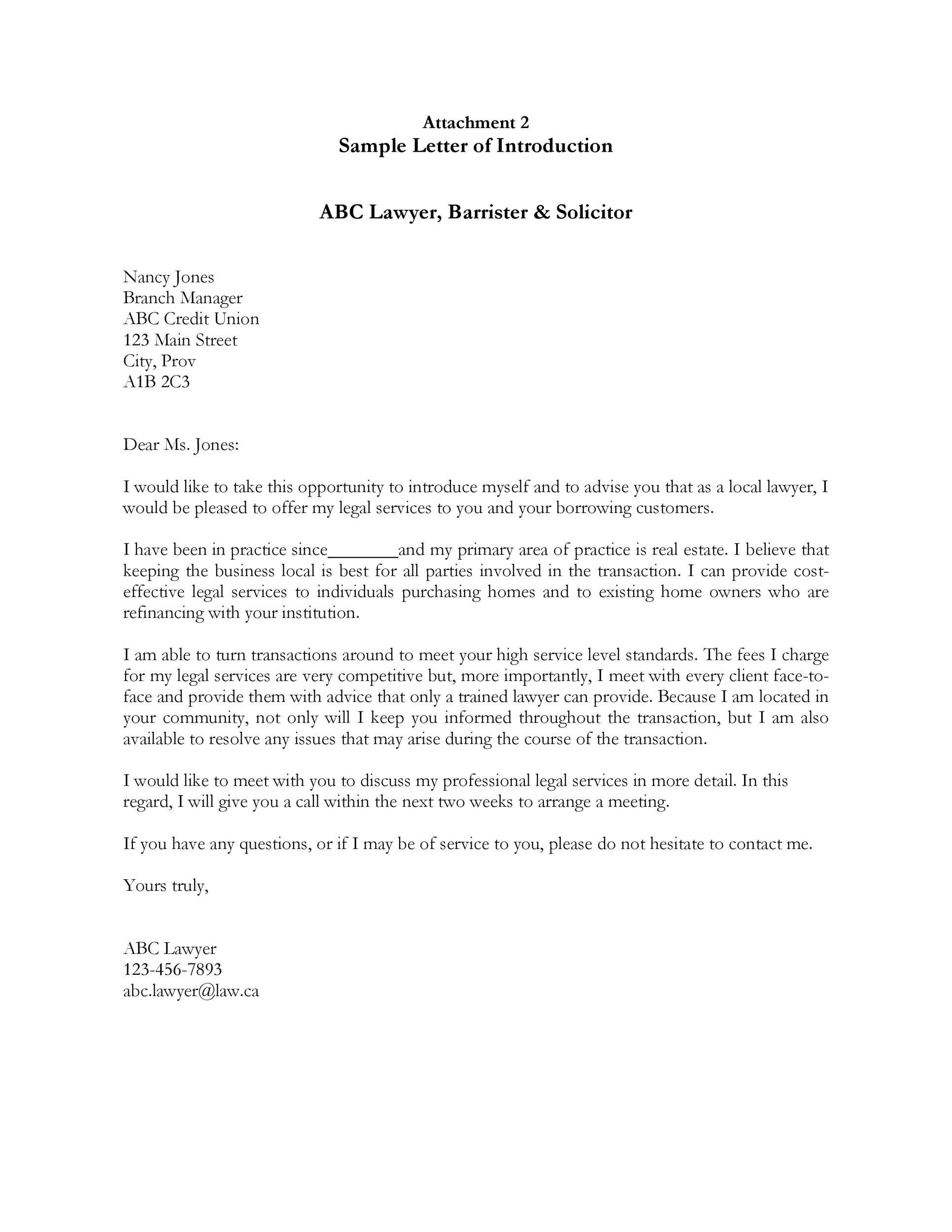 Free business introduction letter 23