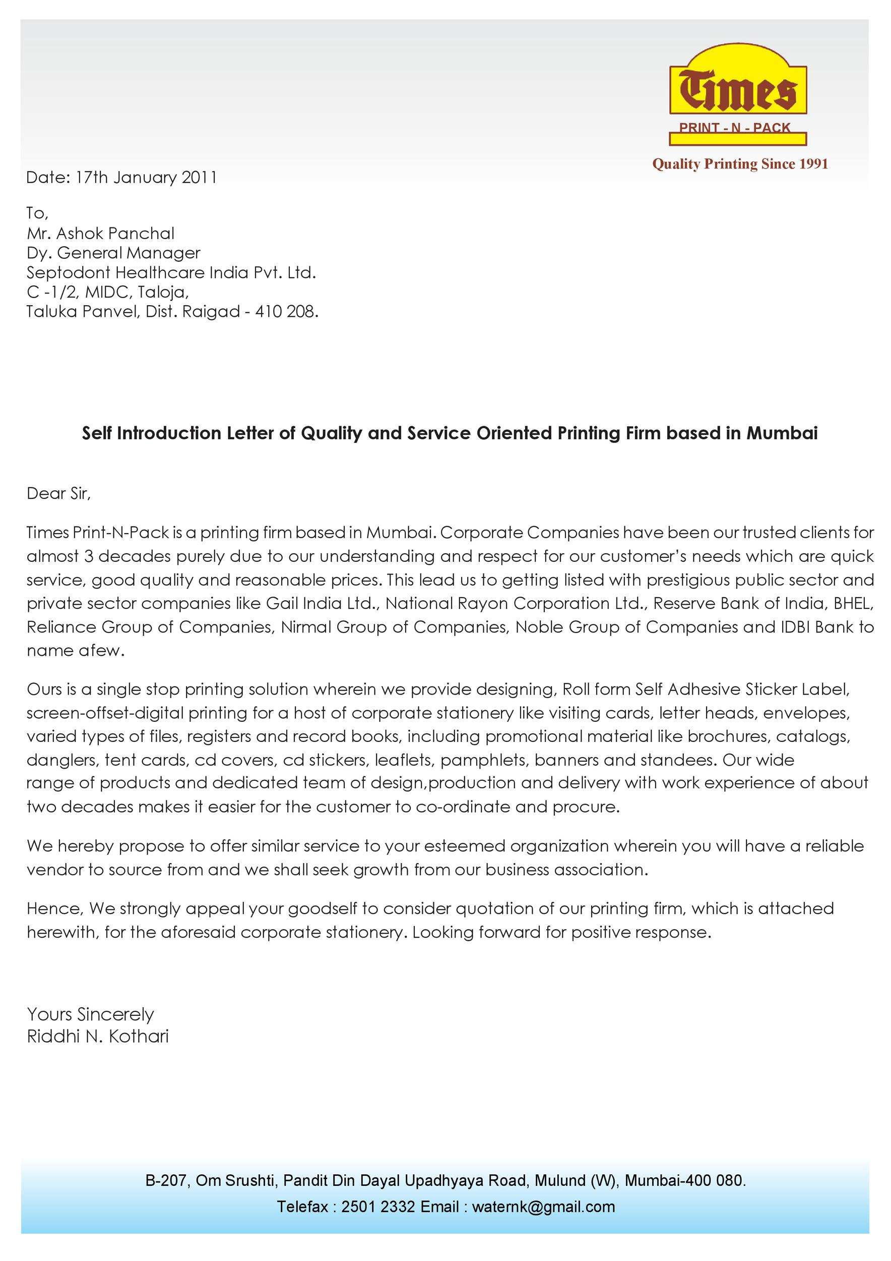 Free business introduction letter 26