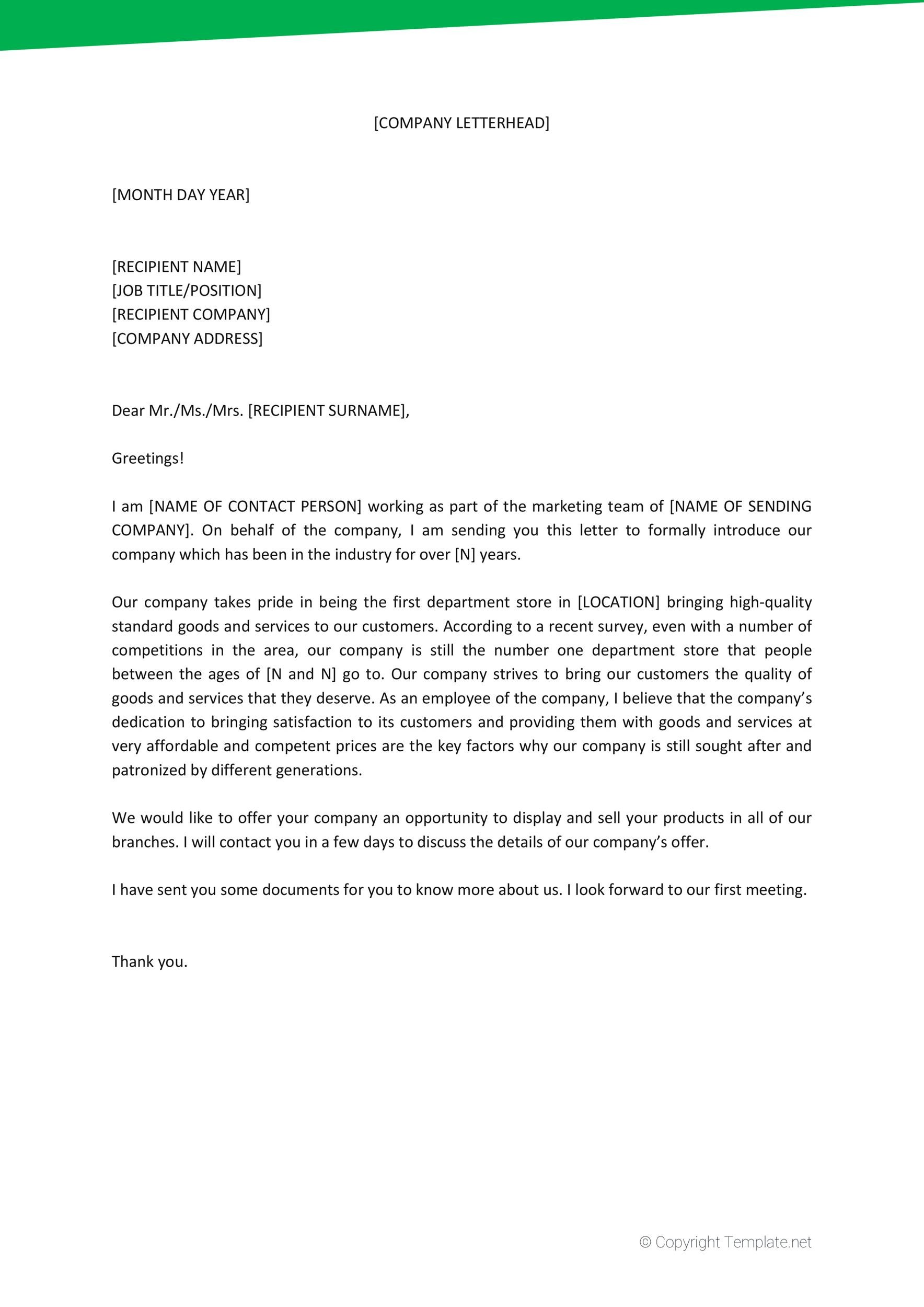 Free business introduction letter 28