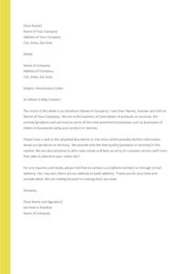 business introduction letter 31