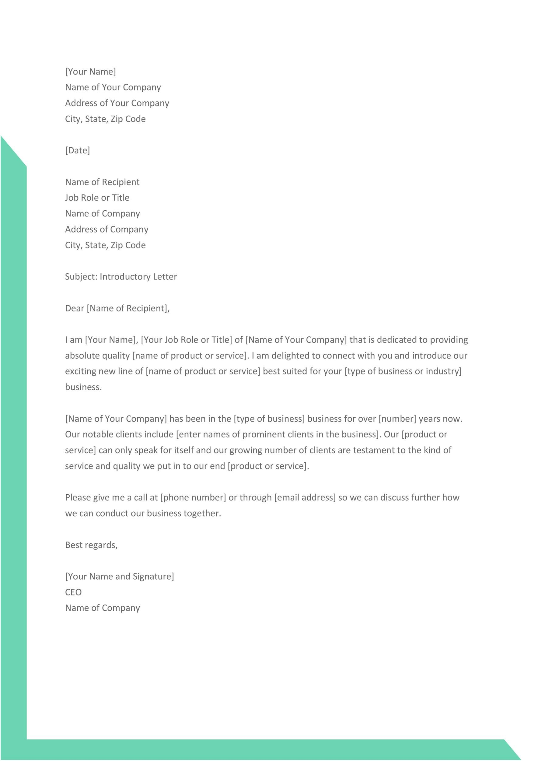 Free business introduction letter 34