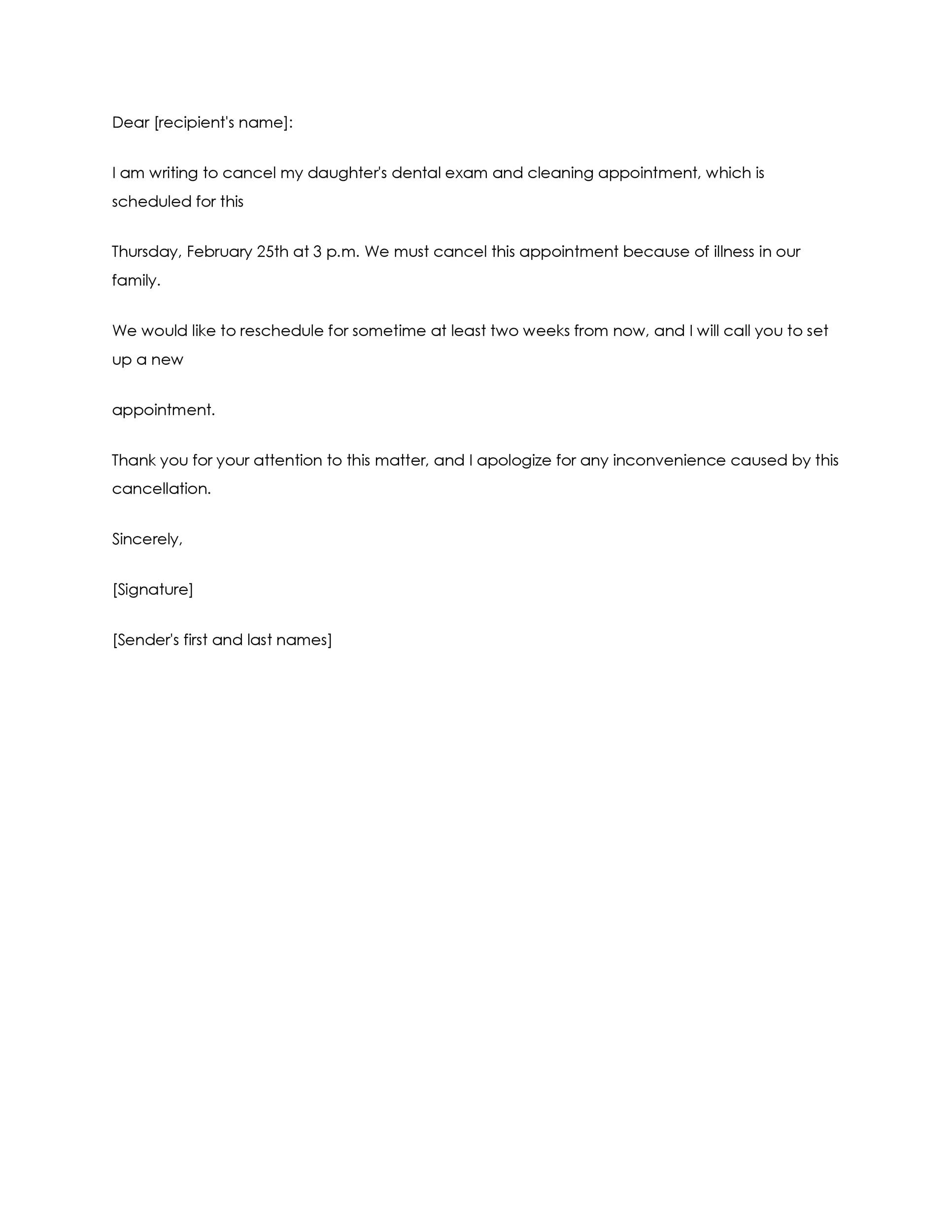 Free cancellation letter 03