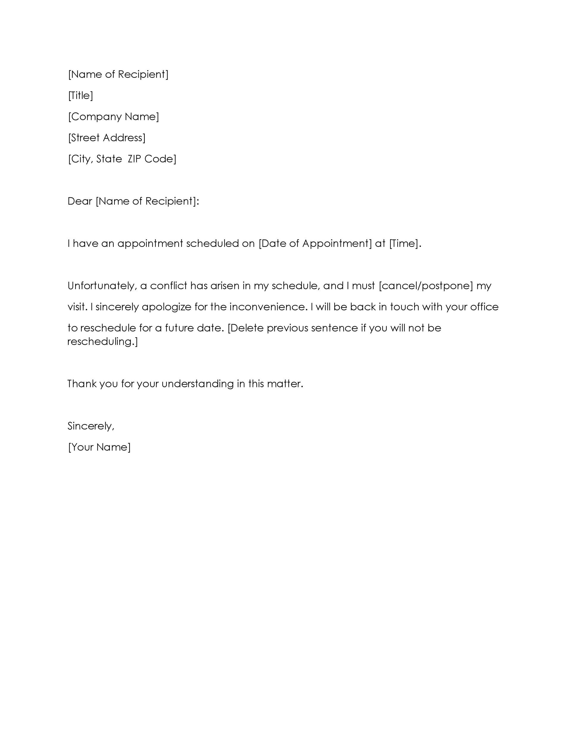 Free cancellation letter 11