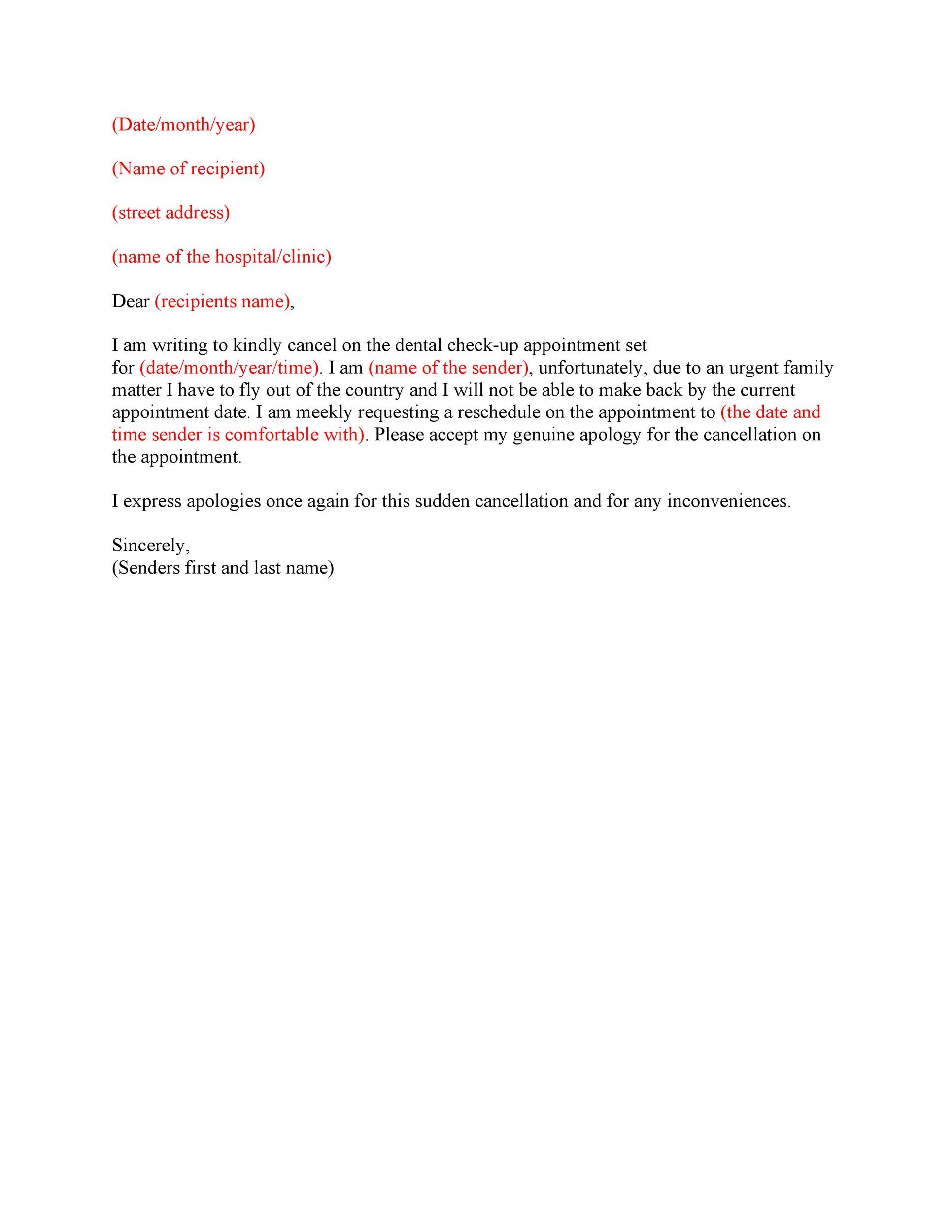 Free cancellation letter 13