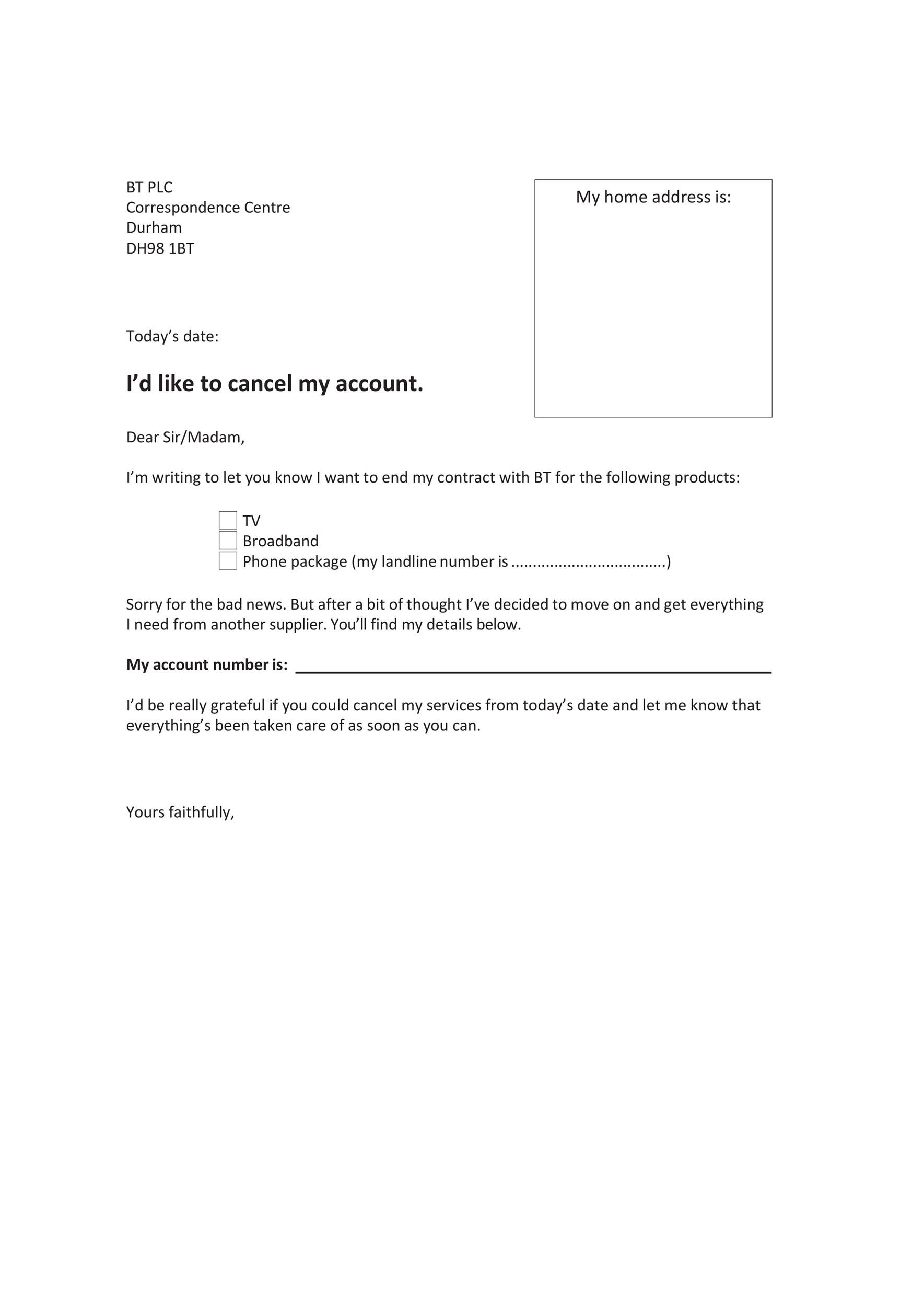 Free cancellation letter 15