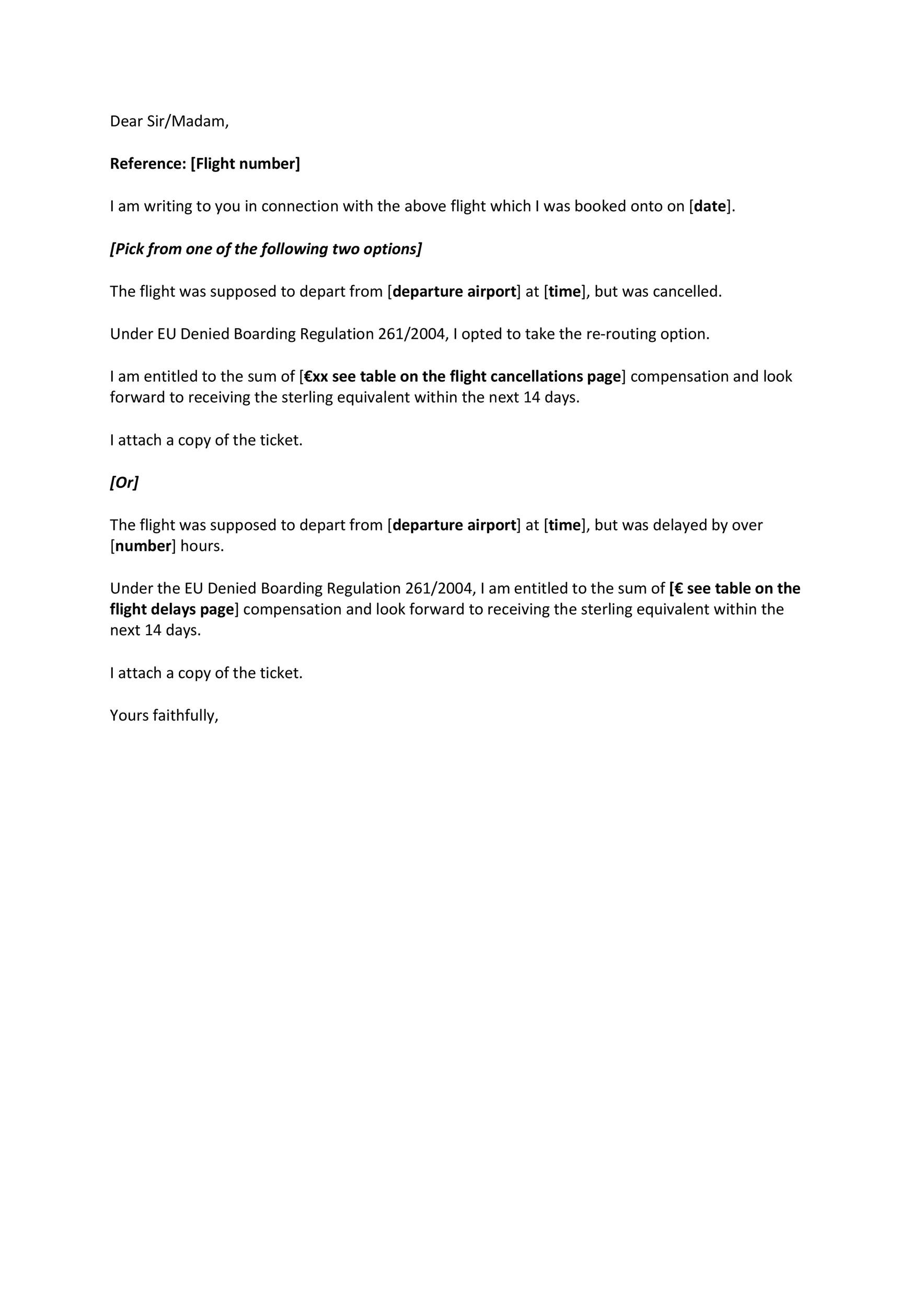 Free cancellation letter 22