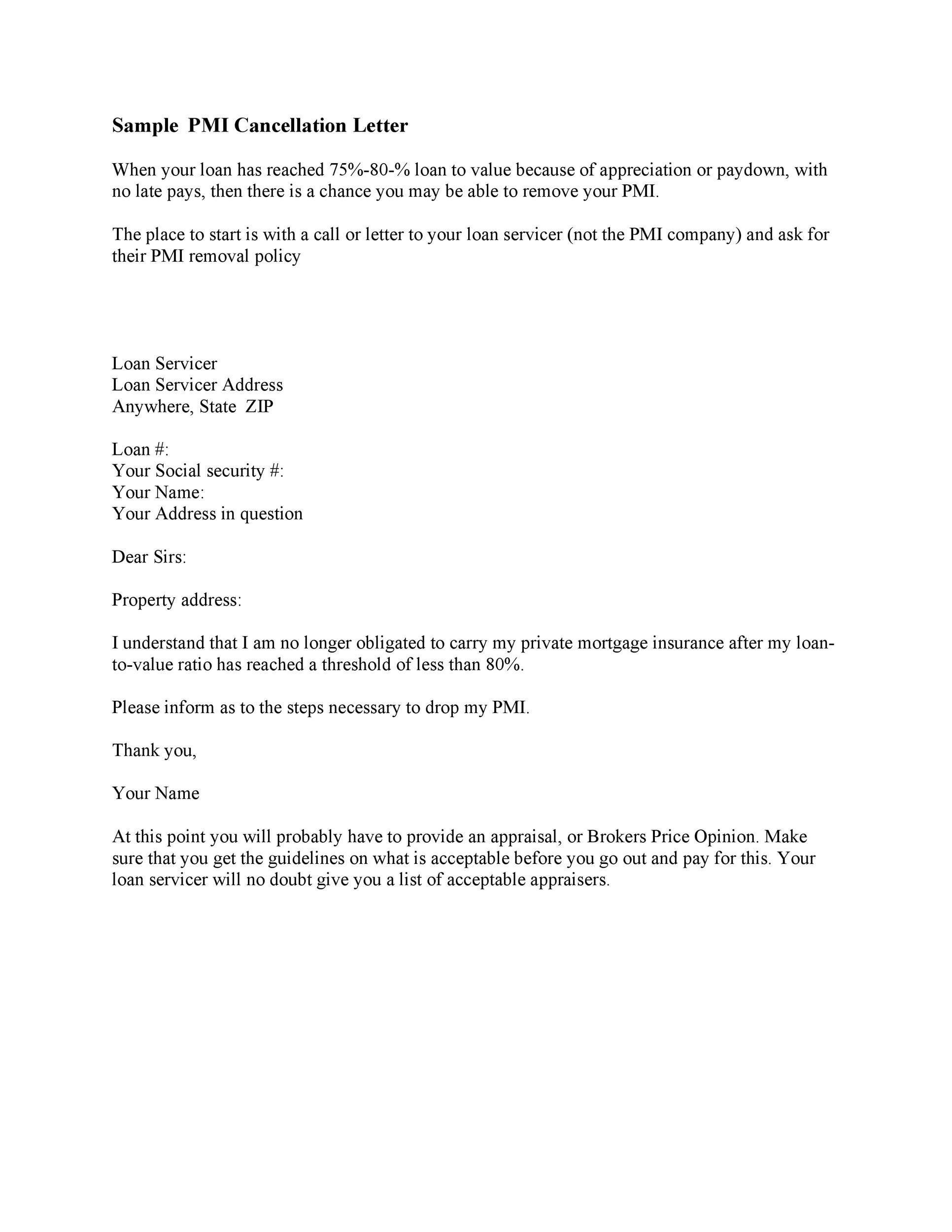 Free cancellation letter 34